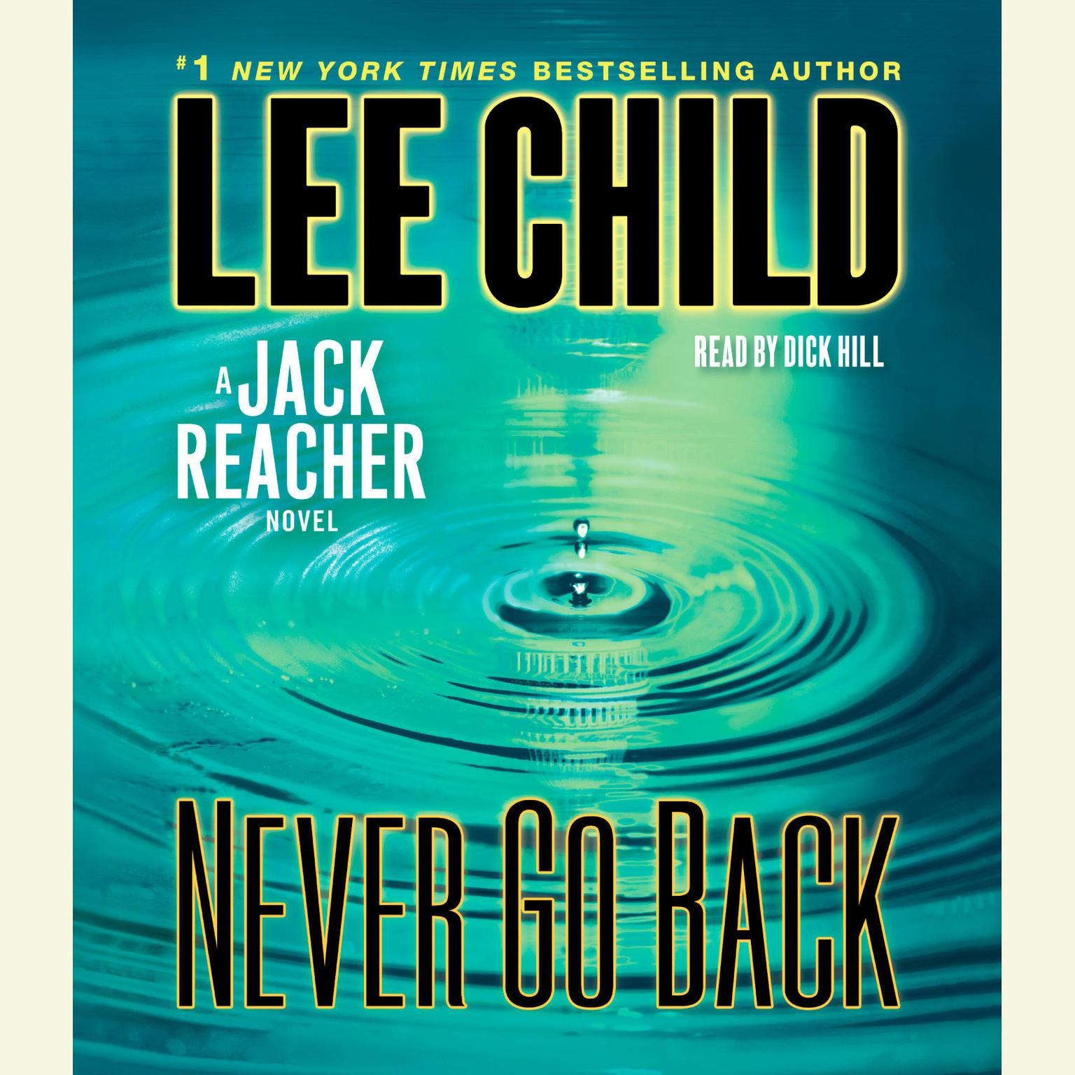 Printable Never Go Back: A Jack Reacher Novel Audiobook Cover Art