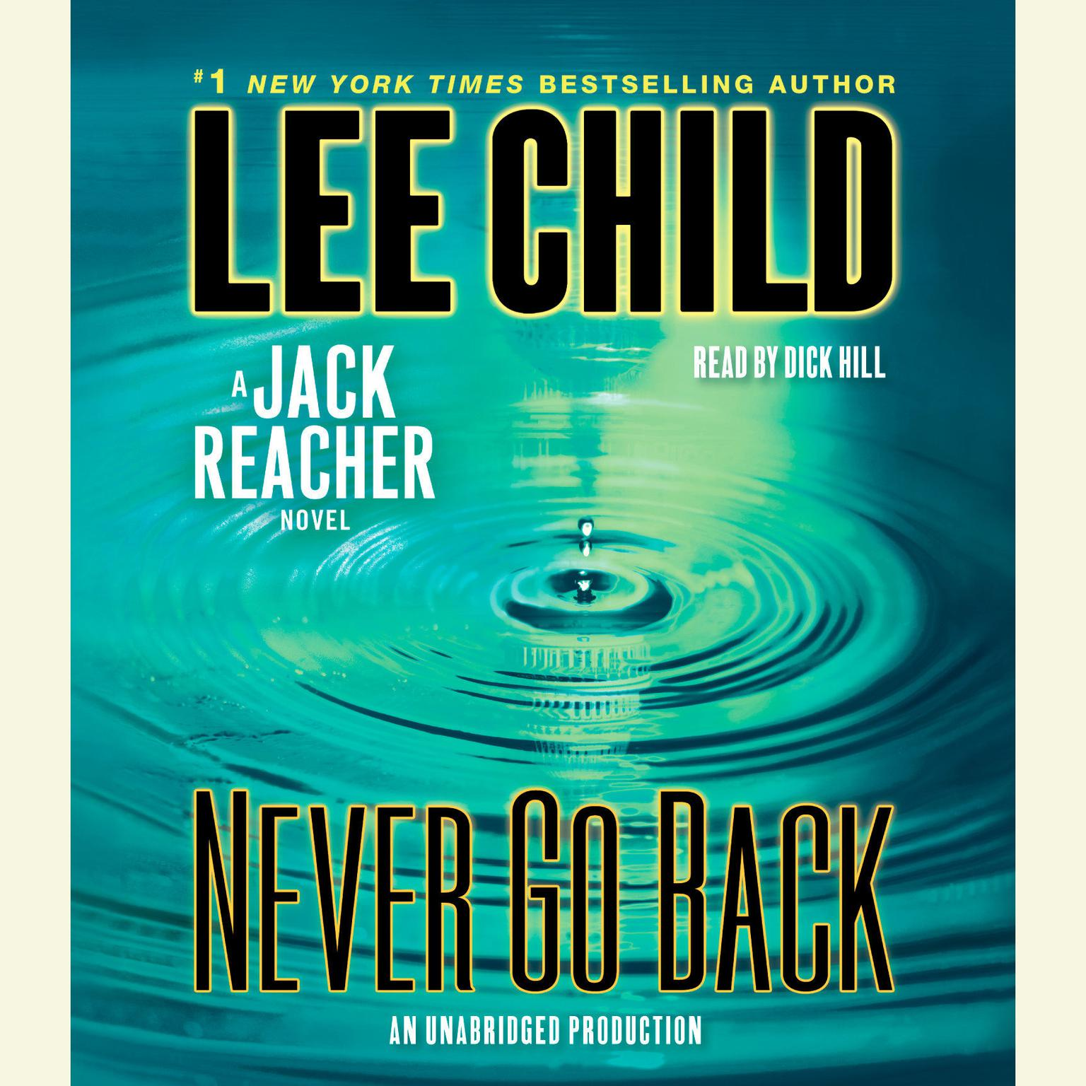 Printable Never Go Back: A Novel Audiobook Cover Art