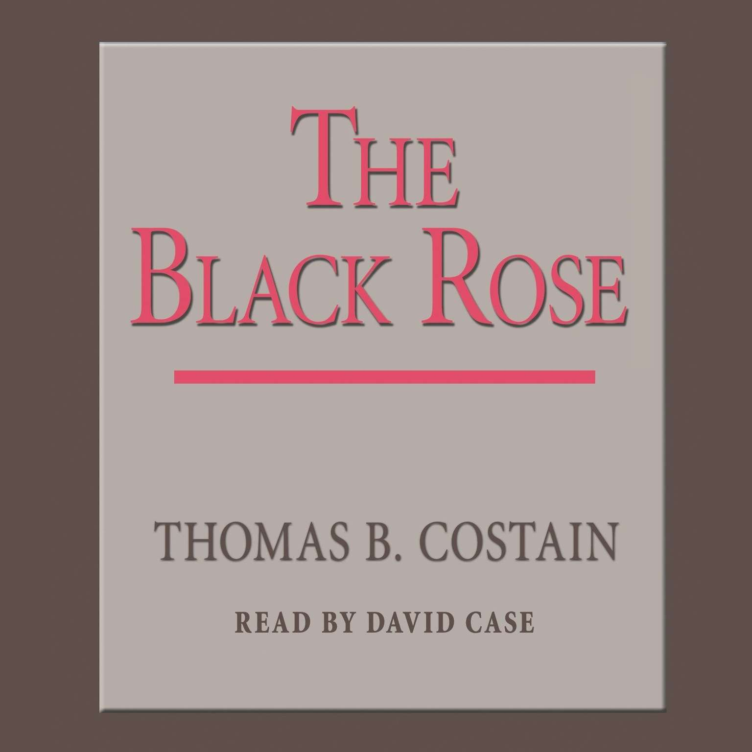 Printable The Black Rose Audiobook Cover Art