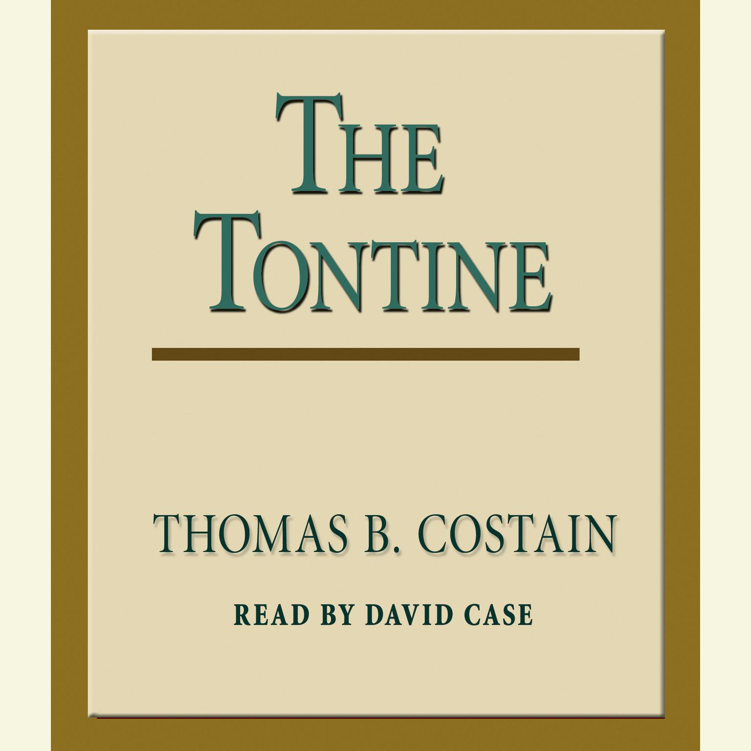 Printable The Tontine Audiobook Cover Art