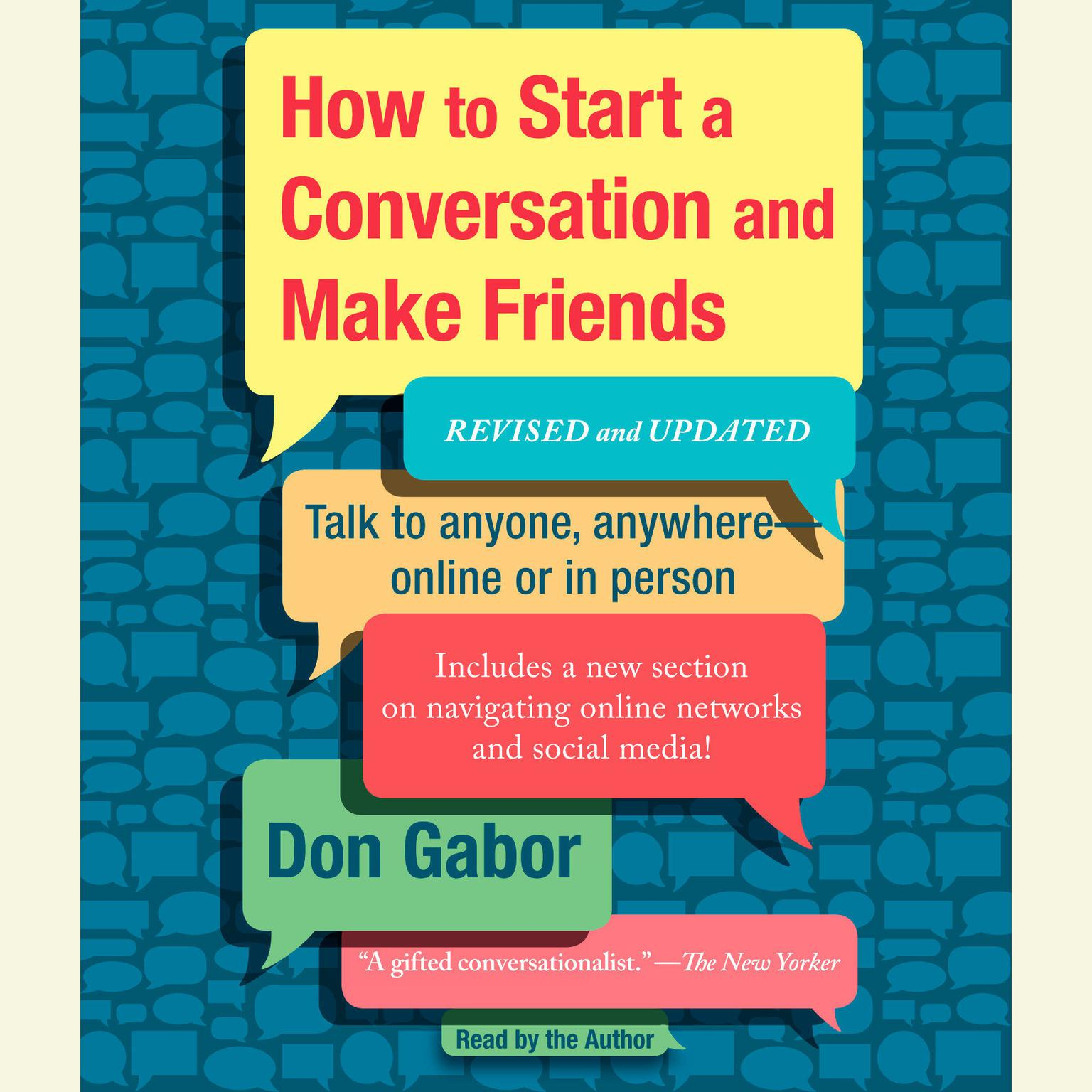 Printable How to Start a Conversation and Make Friends Audiobook Cover Art