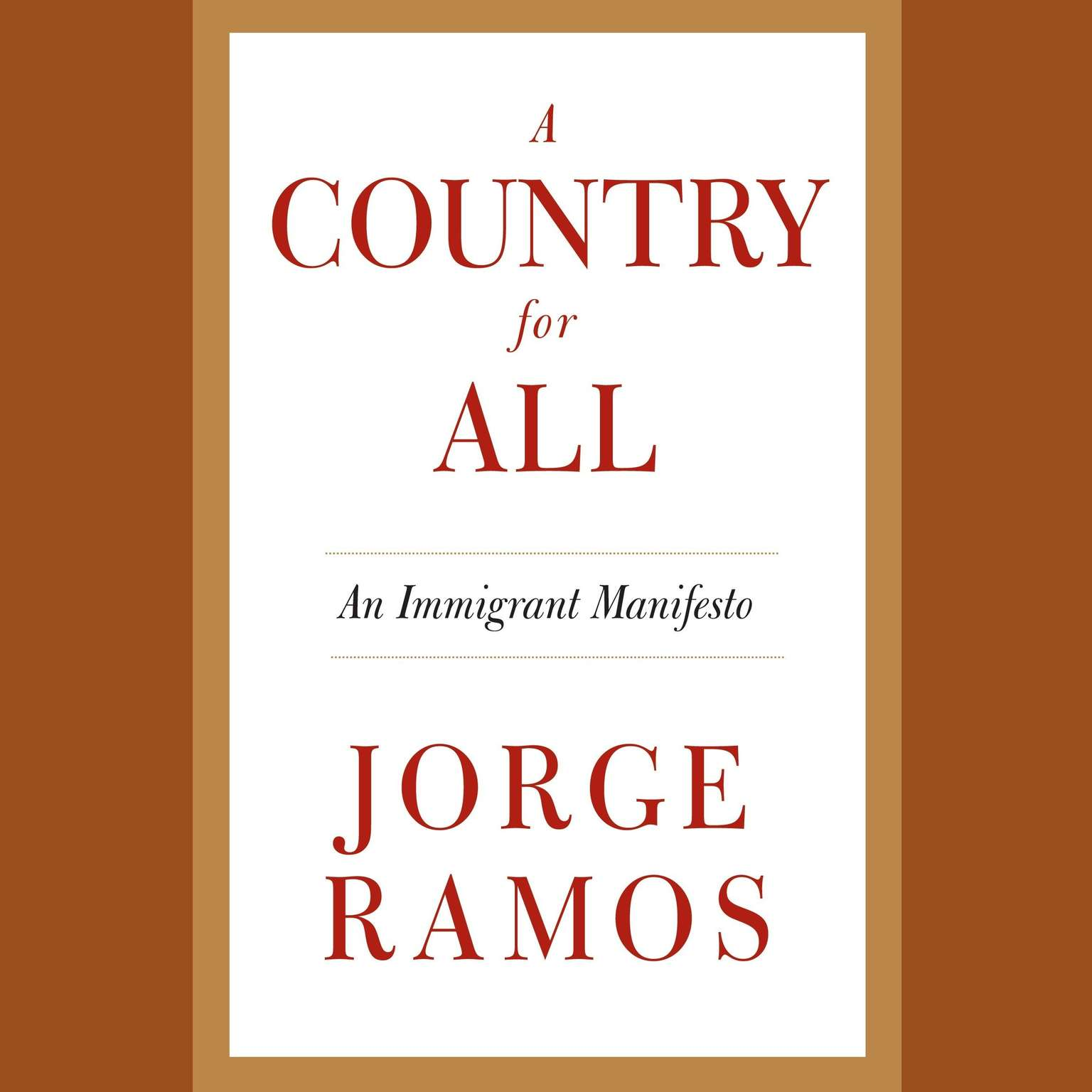 Printable A Country for All: An Immigrant Manifesto Audiobook Cover Art
