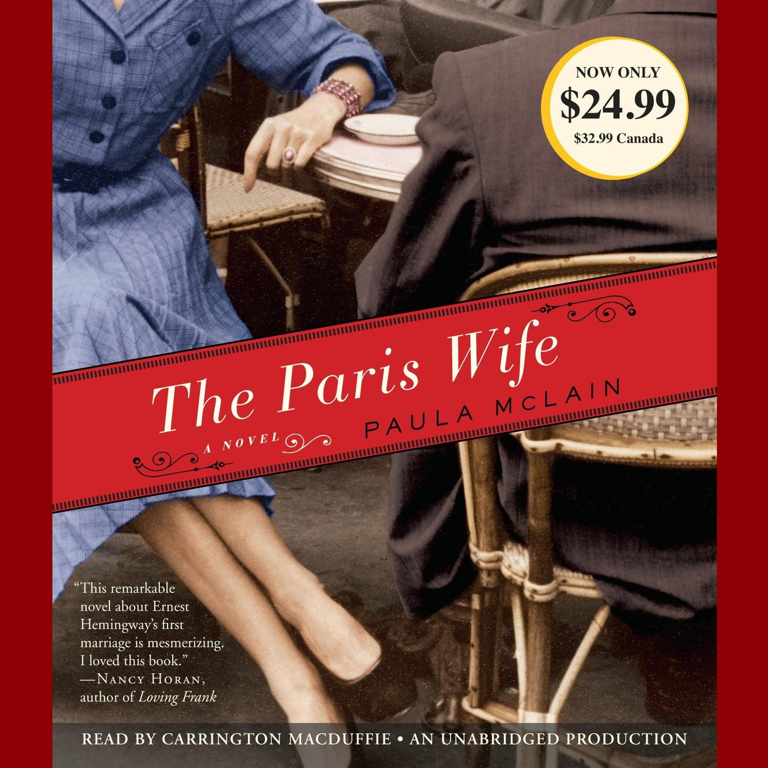 Printable The Paris Wife: A Novel Audiobook Cover Art