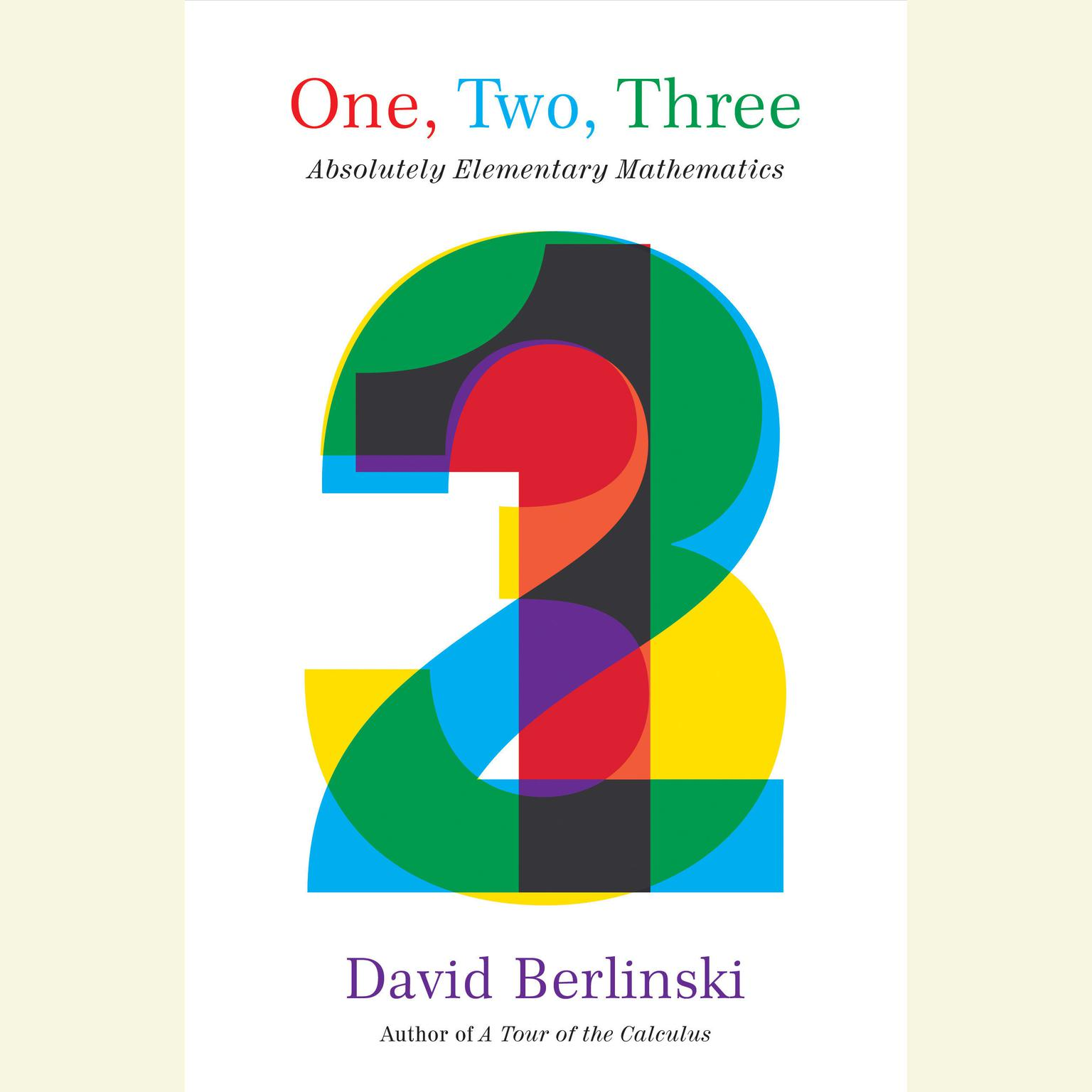 Printable One, Two, Three: Absolutely Elementary Mathematics Audiobook Cover Art