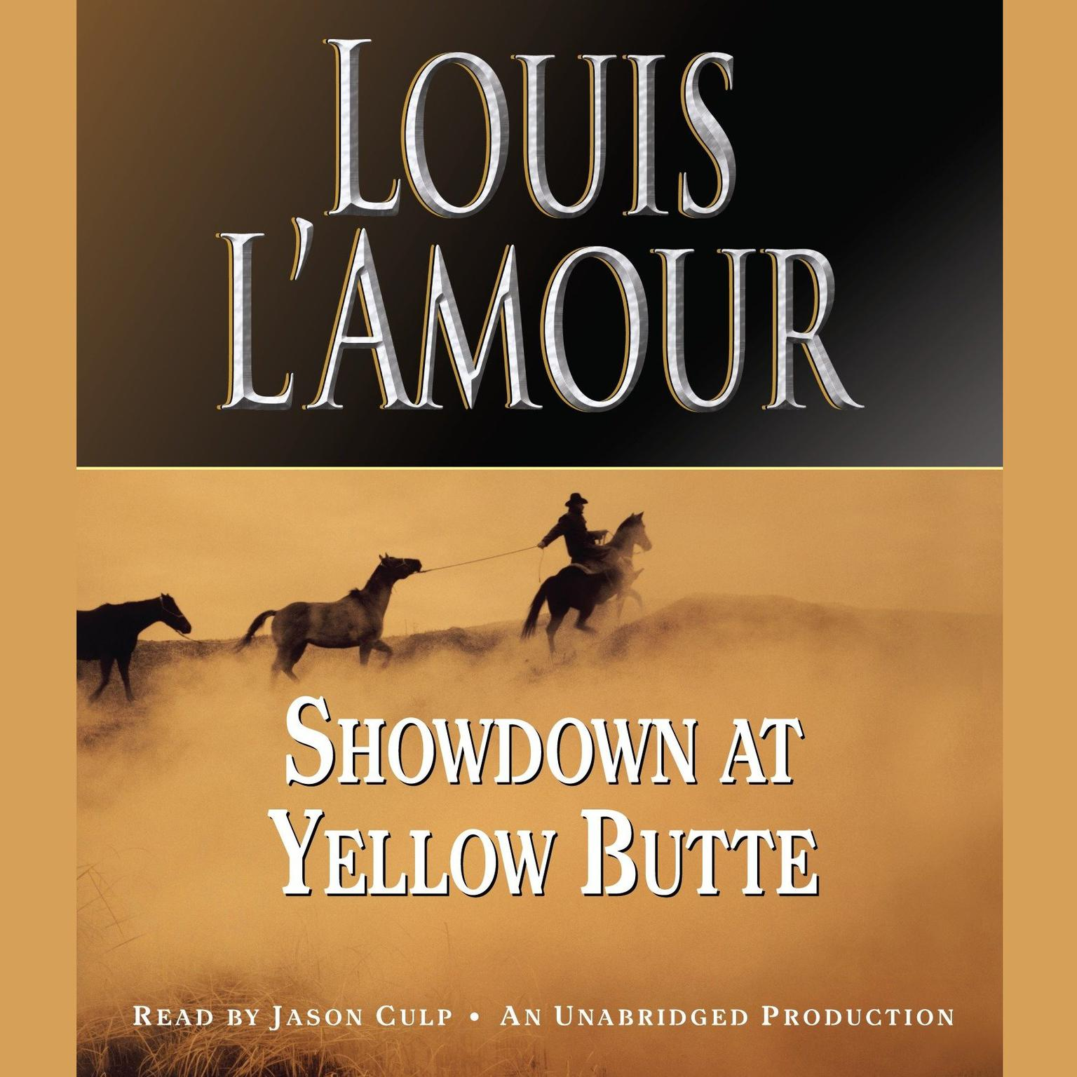 Printable Showdown at Yellow Butte Audiobook Cover Art