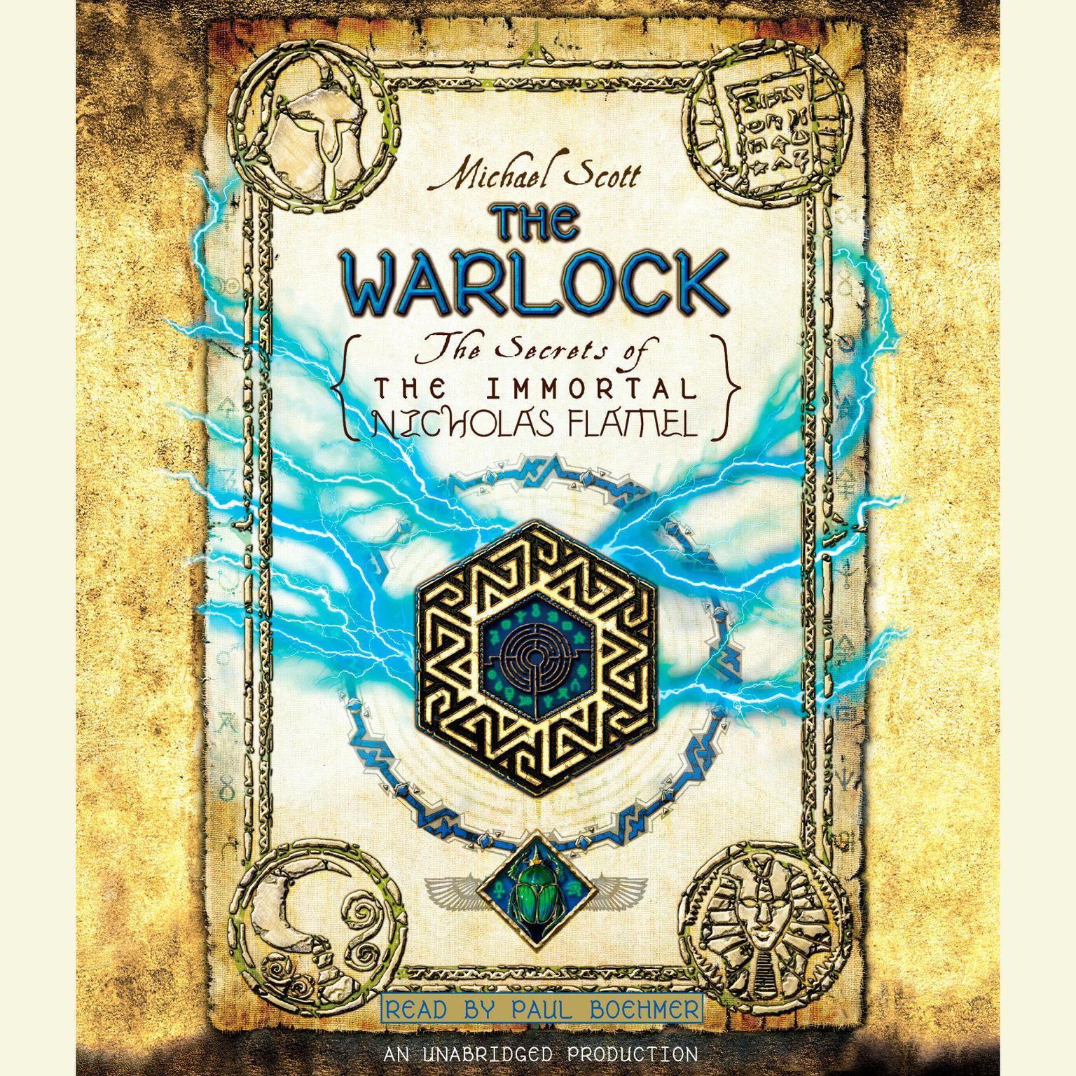 Printable The Warlock: The Secrets of the Immortal Nicholas Flamel Audiobook Cover Art