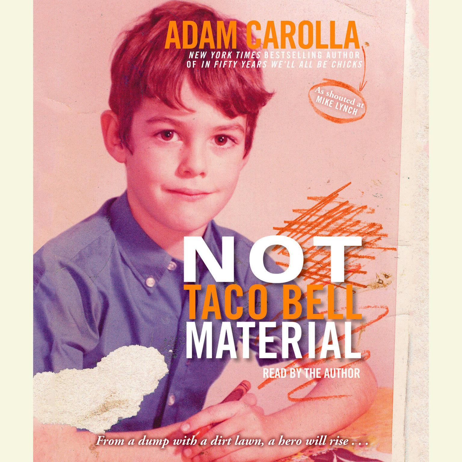 Printable Not Taco Bell Material Audiobook Cover Art