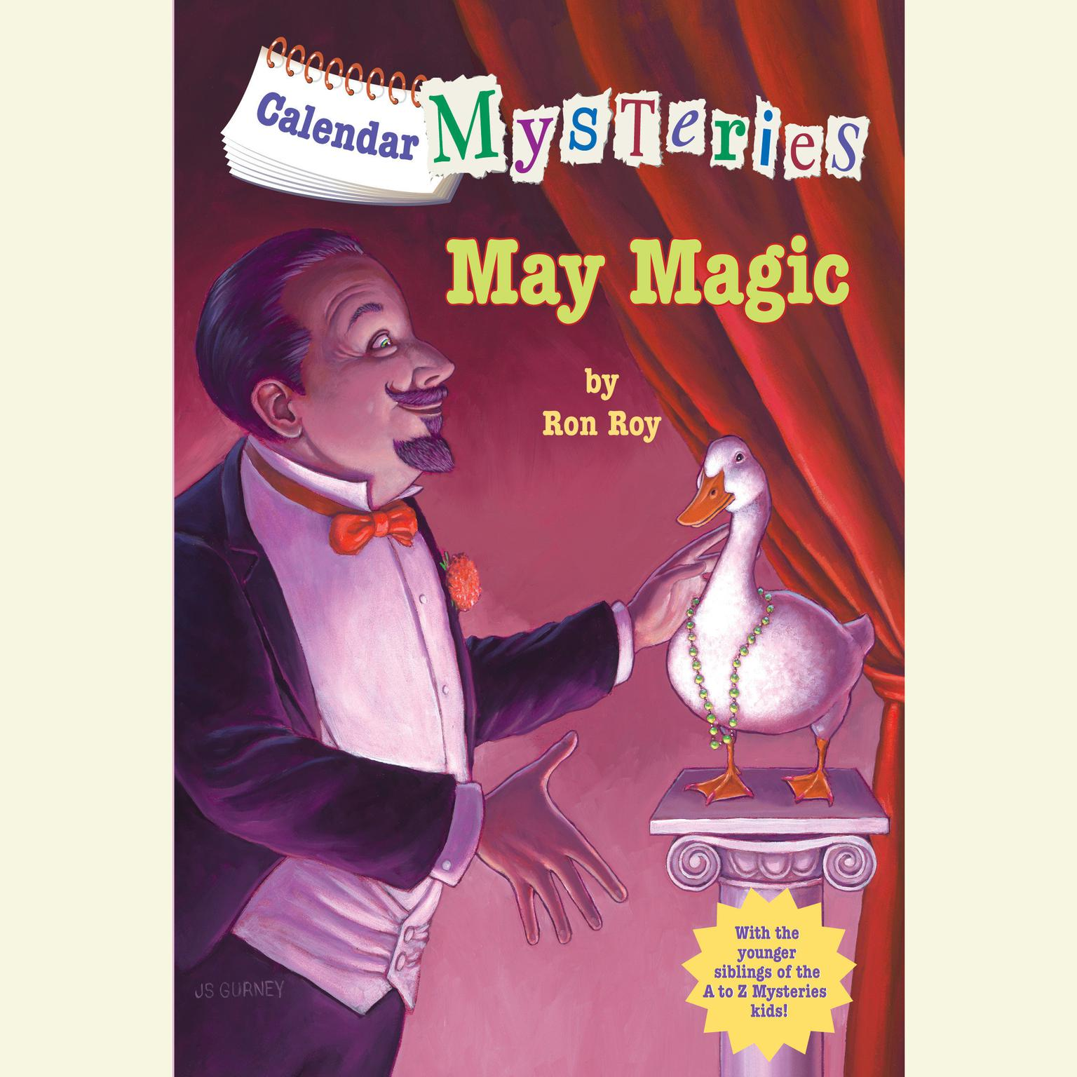 Printable Calendar Mysteries #5: May Magic Audiobook Cover Art