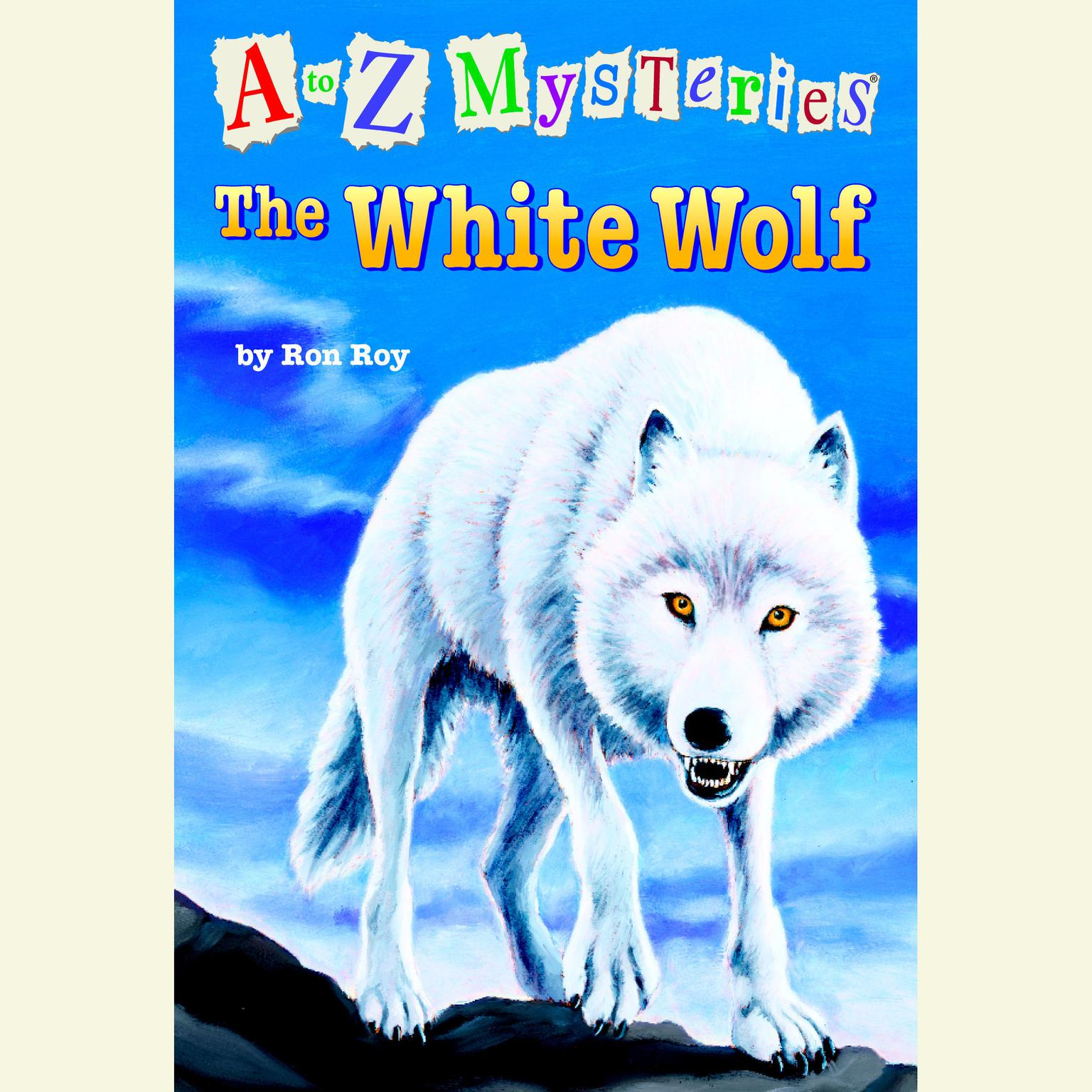 Printable A to Z Mysteries: The White Wolf Audiobook Cover Art