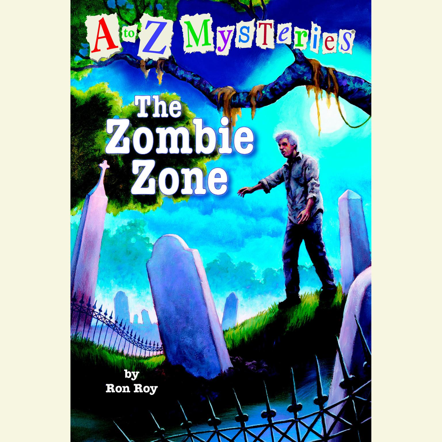 Printable A to Z Mysteries: The Zombie Zone Audiobook Cover Art