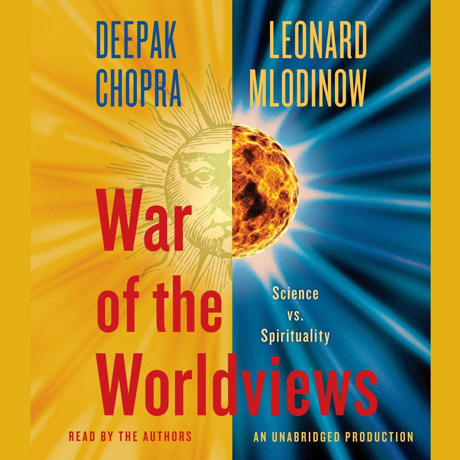 Printable War of the Worldviews: Science Vs. Spirituality Audiobook Cover Art