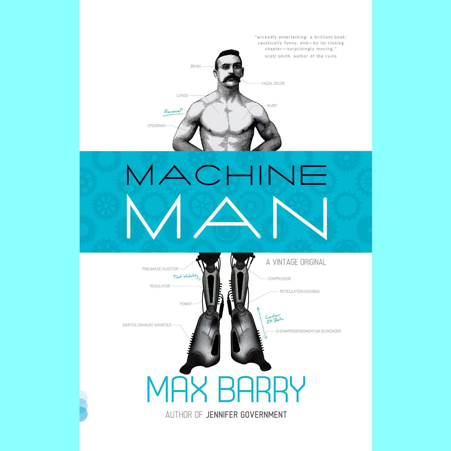 Printable Machine Man Audiobook Cover Art