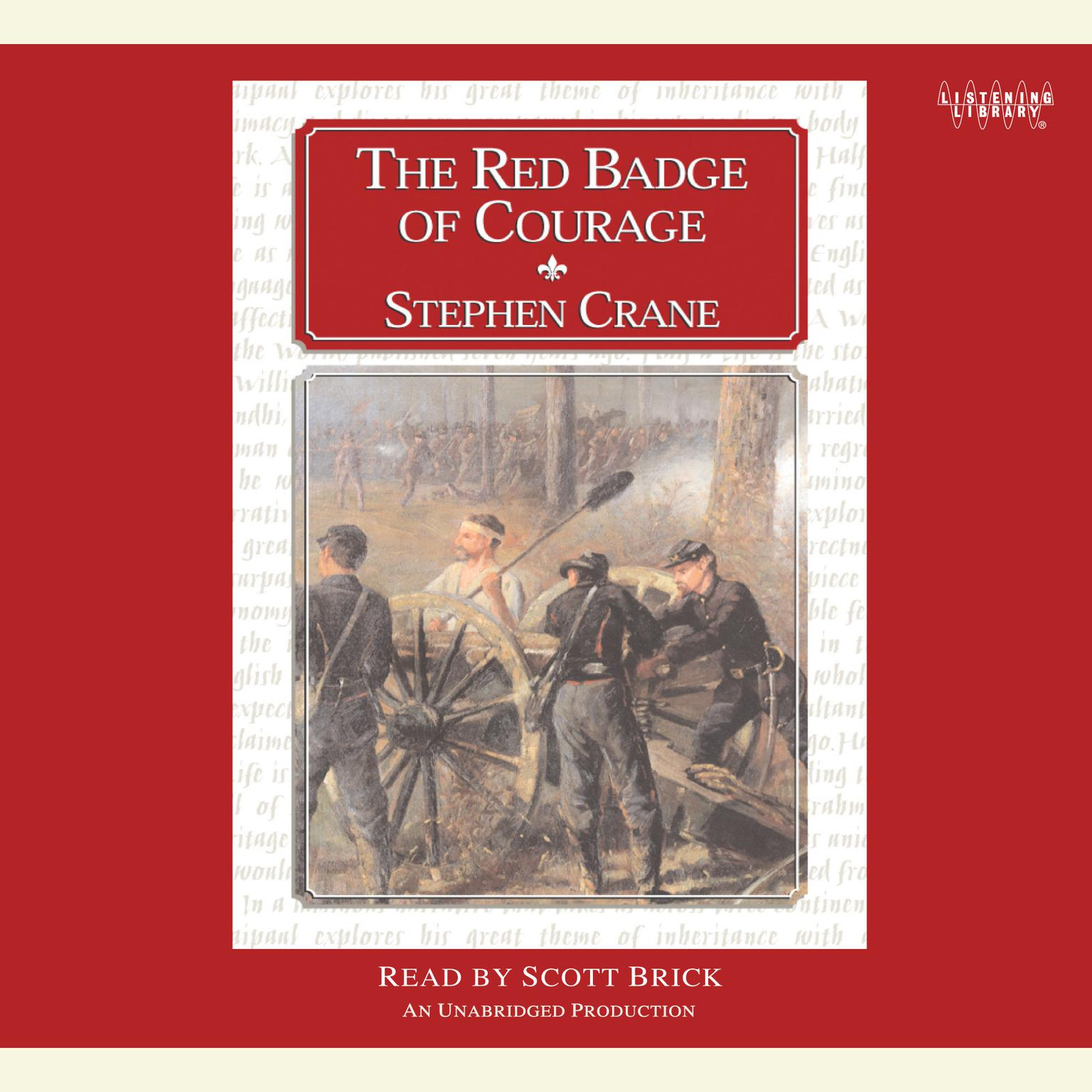 Printable The Red Badge of Courage Audiobook Cover Art