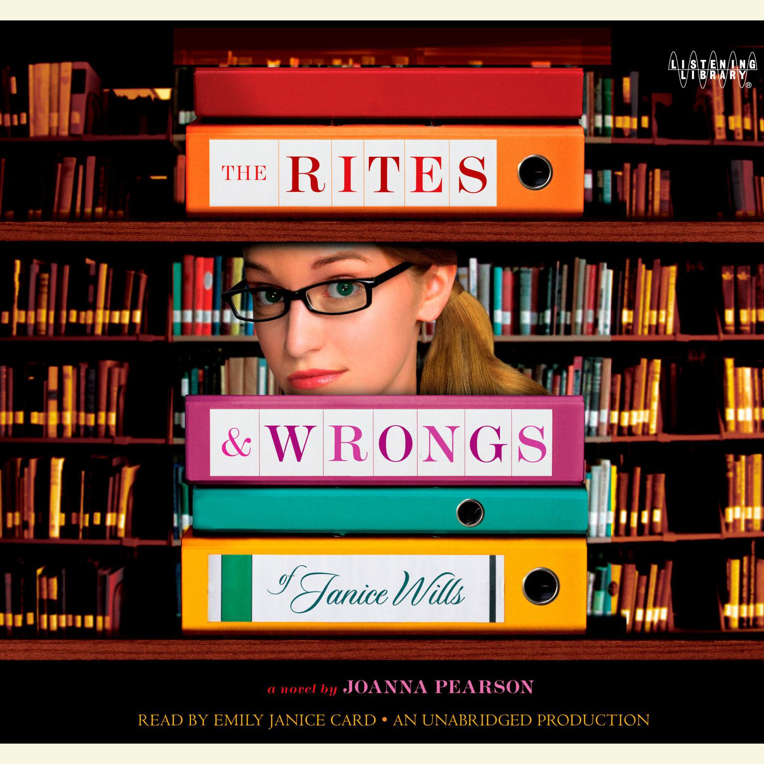 Printable The Rites and Wrongs of Janice Wills Audiobook Cover Art