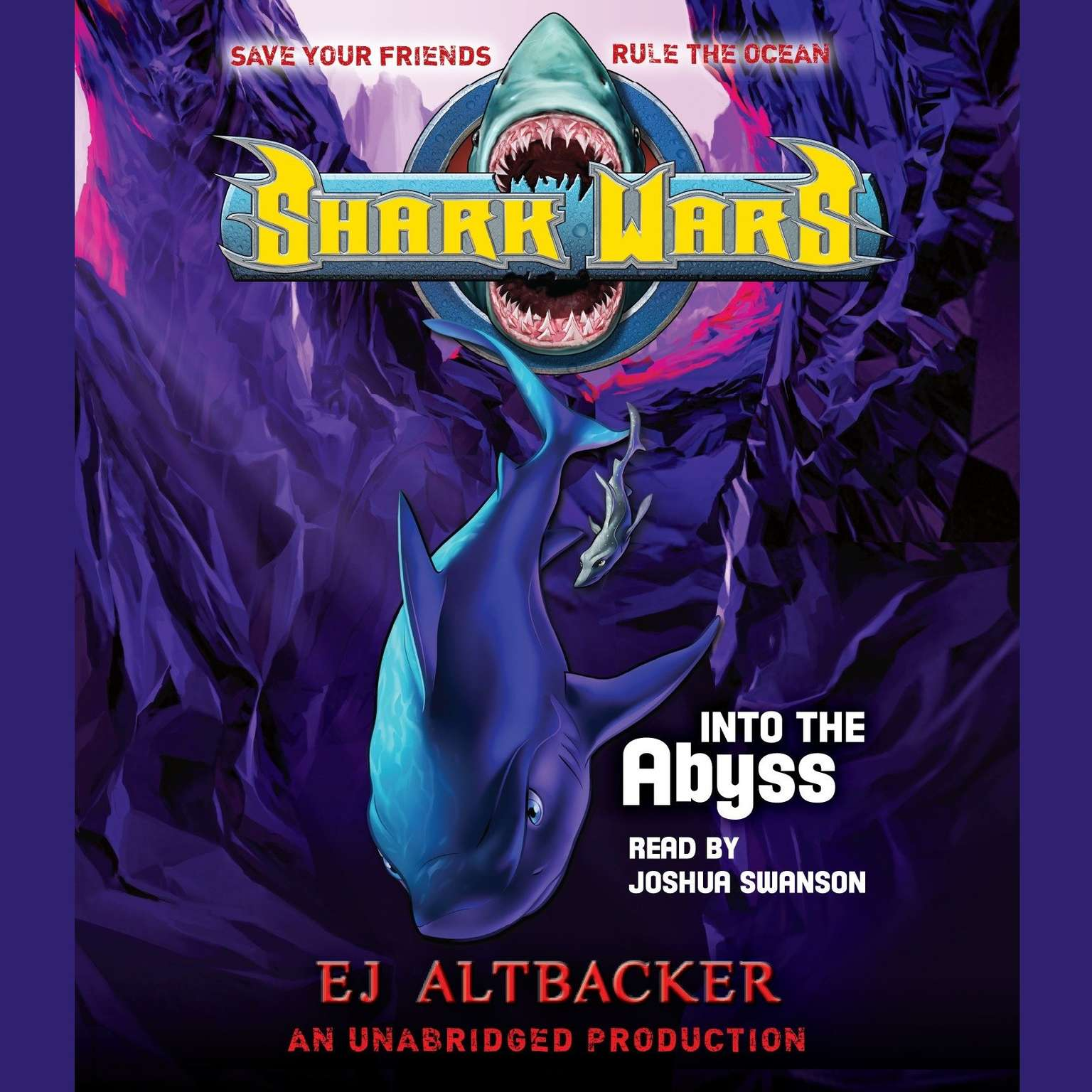 Printable Shark Wars 3: Into the Abyss Audiobook Cover Art