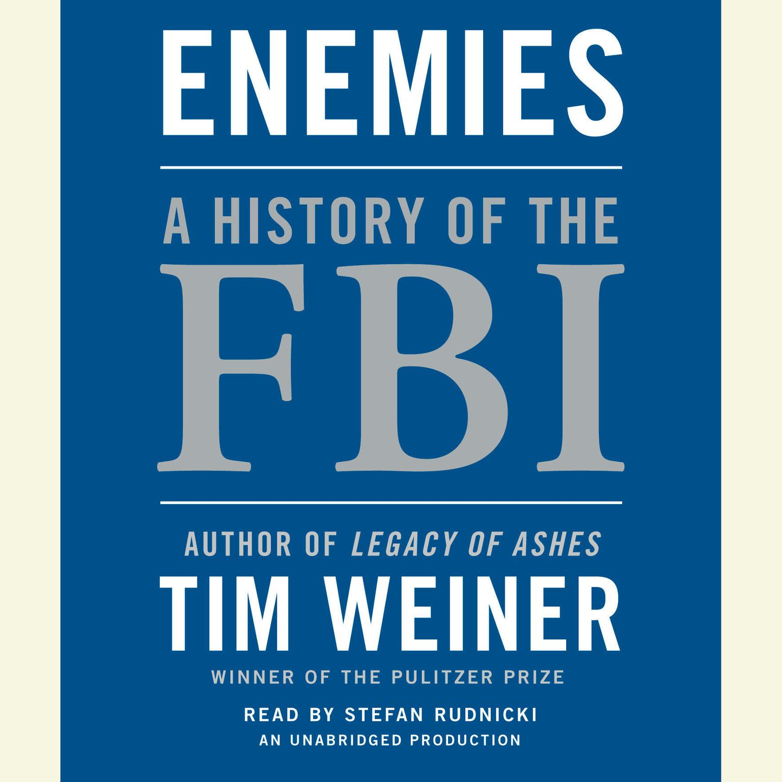 Printable Enemies: A History of the FBI Audiobook Cover Art