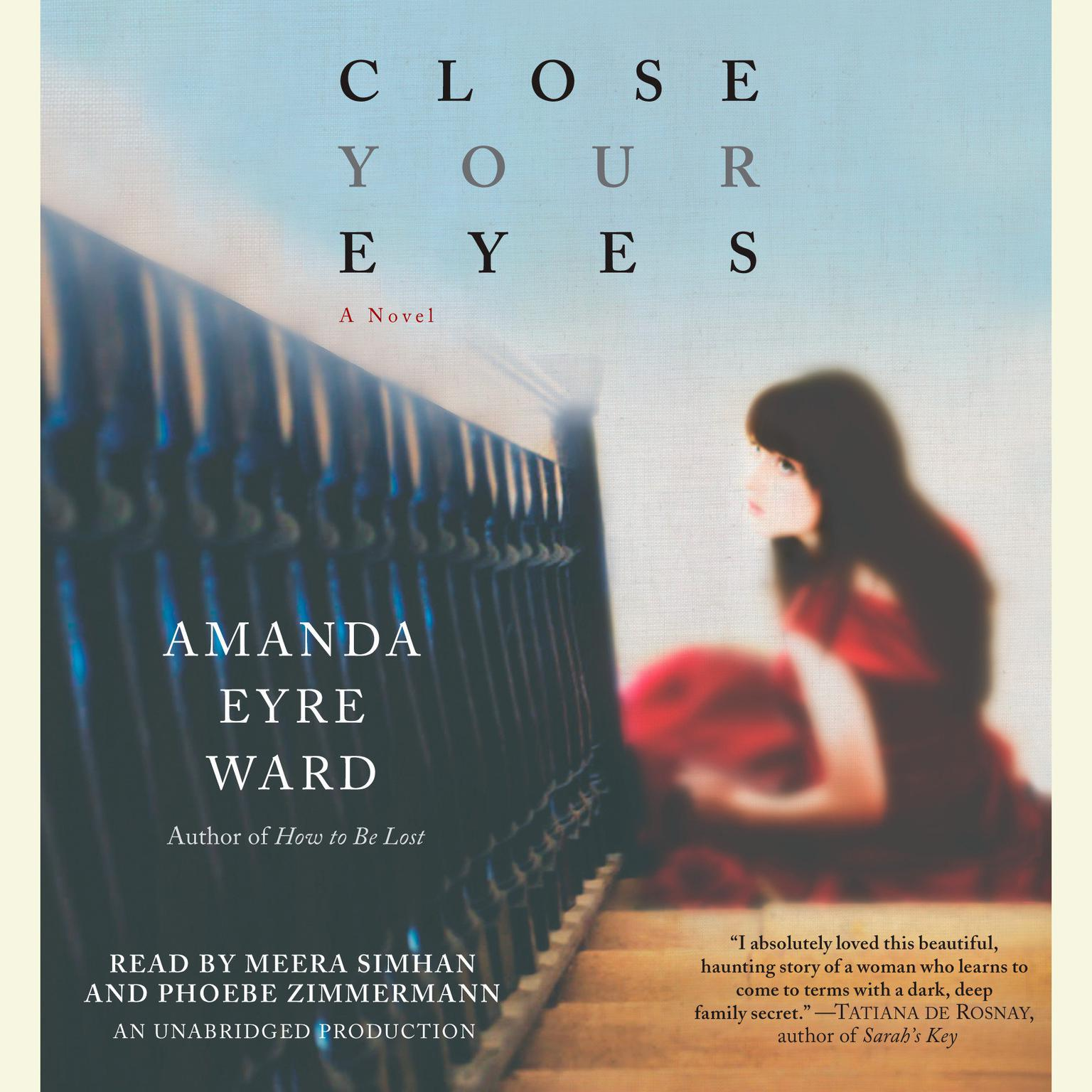 Printable Close Your Eyes: A Novel Audiobook Cover Art