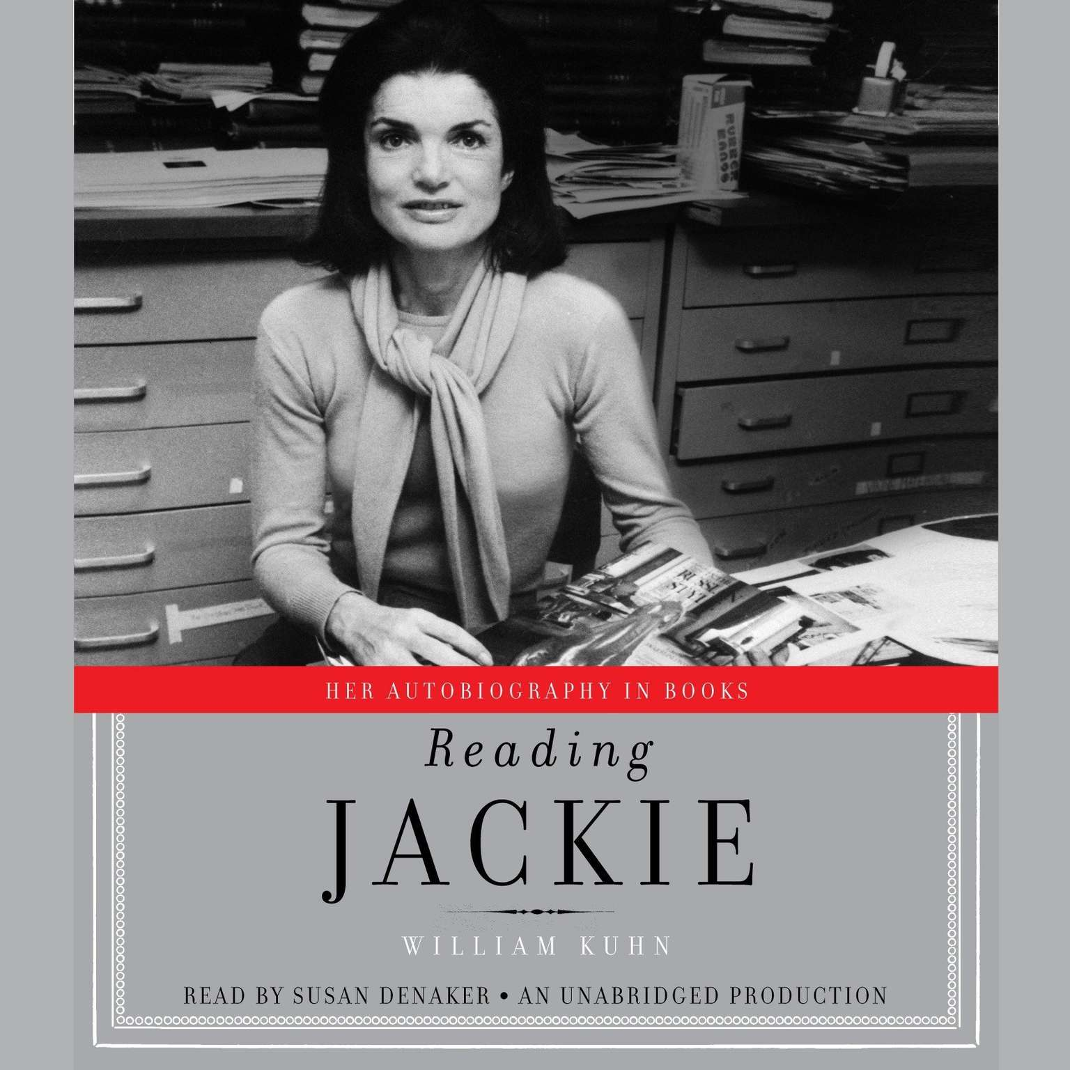 Printable Reading Jackie: Her Autobiography in Books Audiobook Cover Art