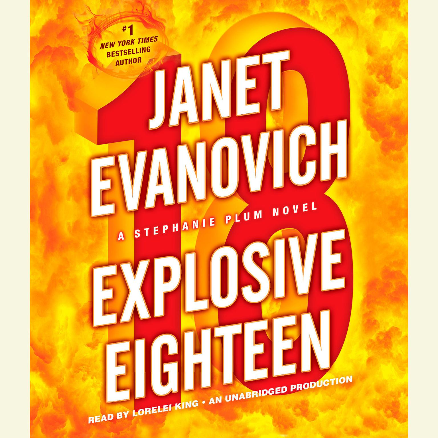 Printable Explosive Eighteen: A Stephanie Plum Novel Audiobook Cover Art