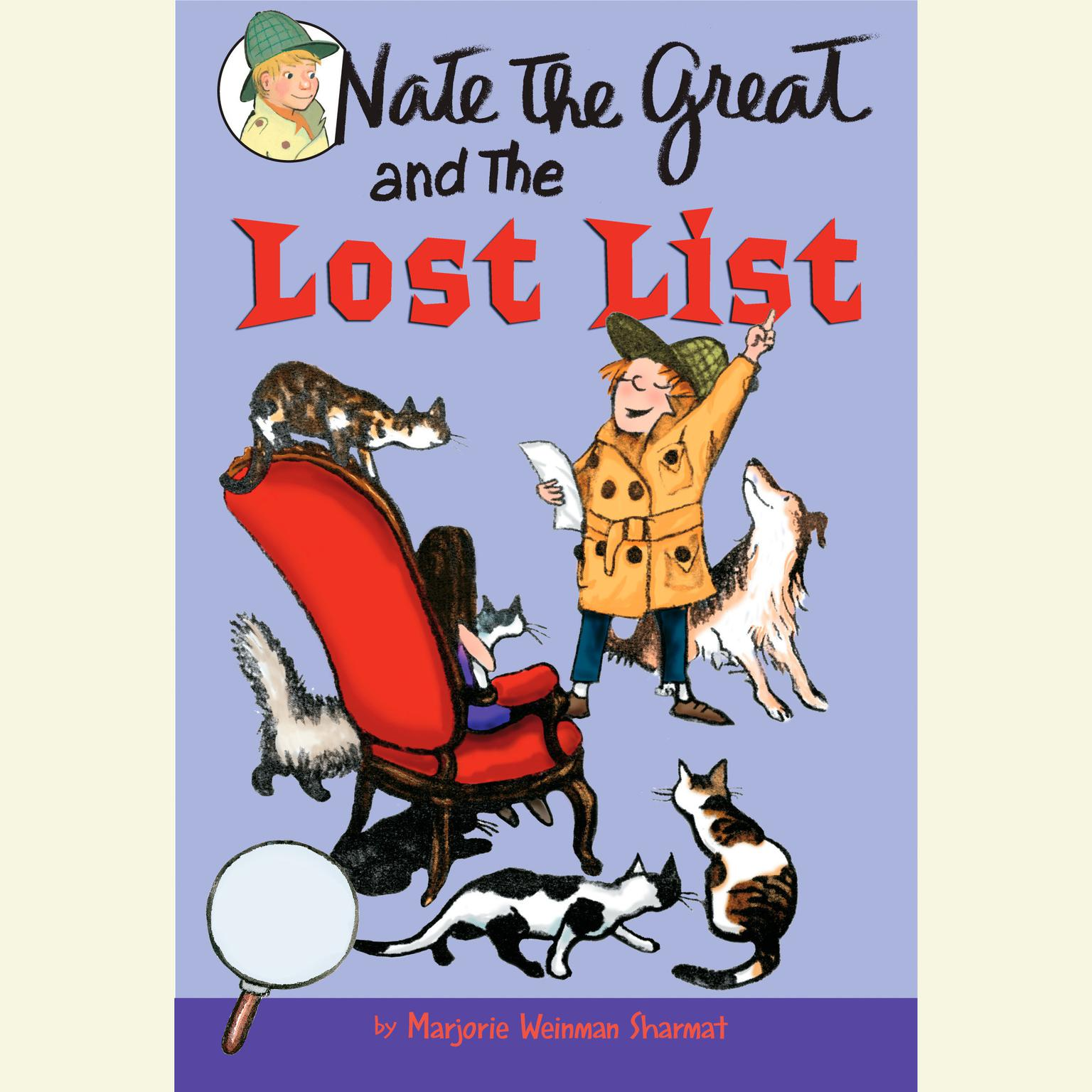 Printable Nate the Great and the Lost List Audiobook Cover Art