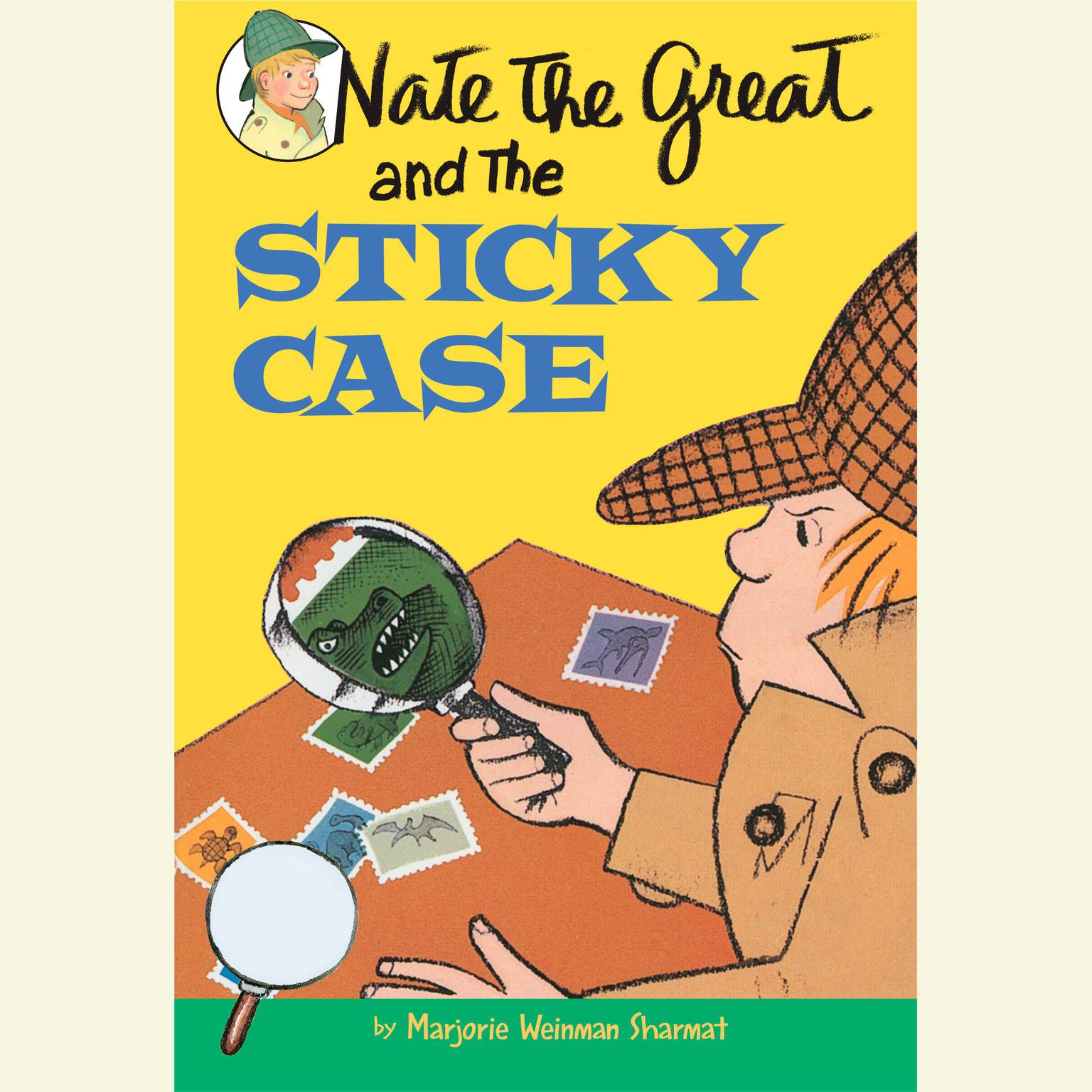 Printable Nate the Great and the Sticky Case Audiobook Cover Art
