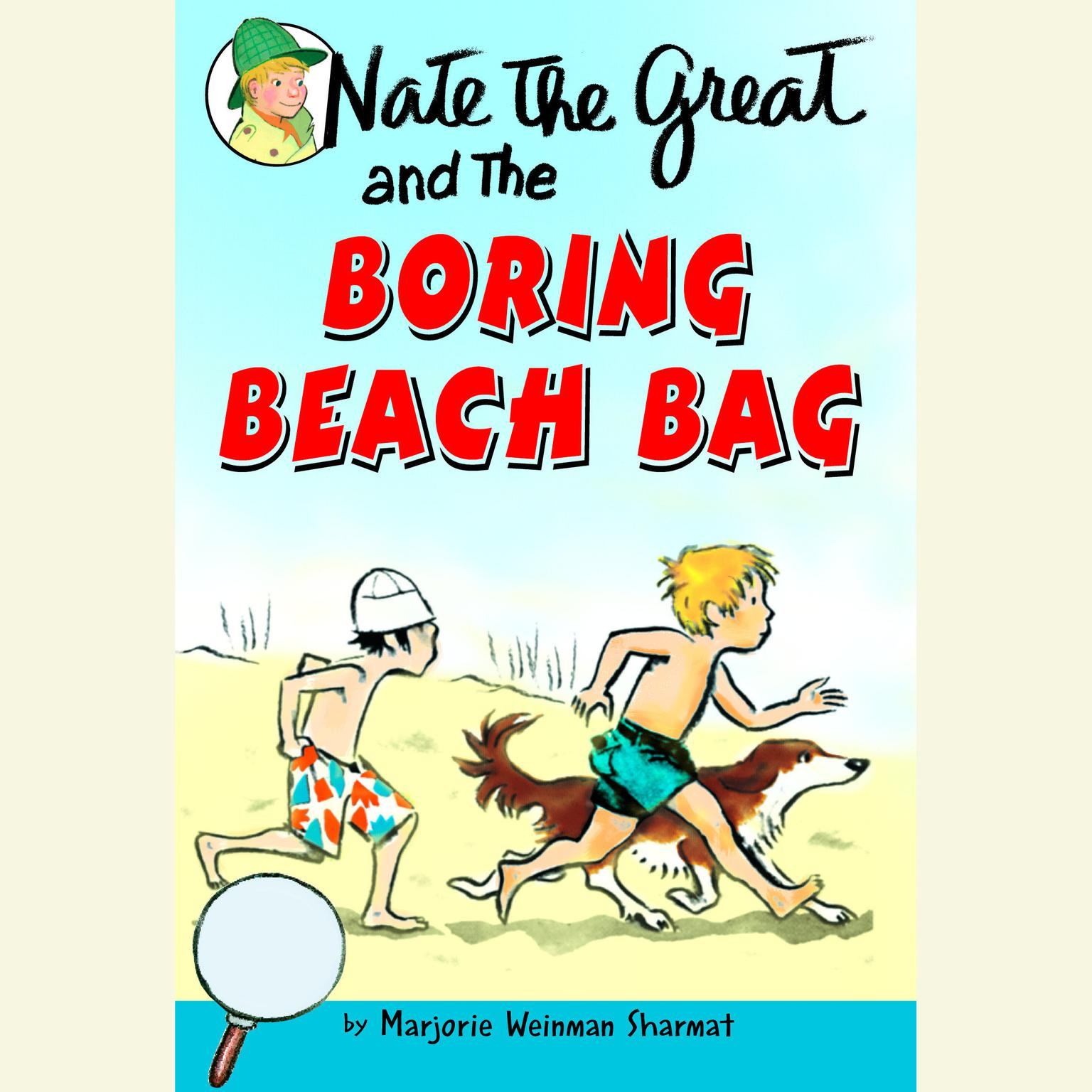 Printable Nate the Great and the Boring Beach Bag Audiobook Cover Art