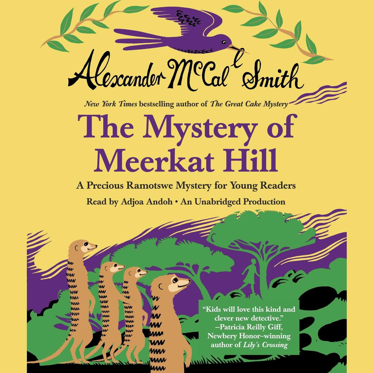 Printable The Mystery of Meerkat Hill: A Precious Ramotswe Mystery for Young Readers Audiobook Cover Art