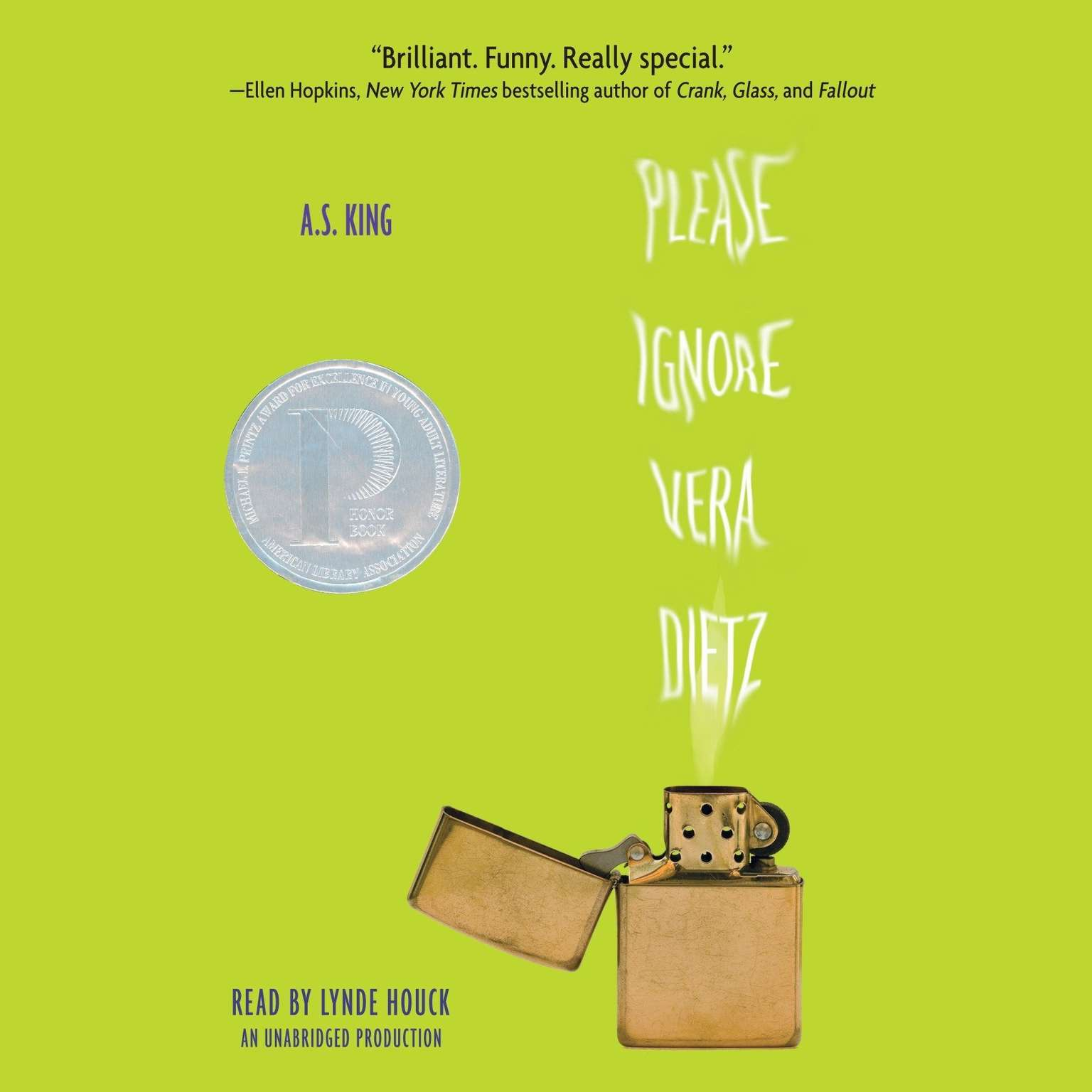 Printable Please Ignore Vera Dietz Audiobook Cover Art