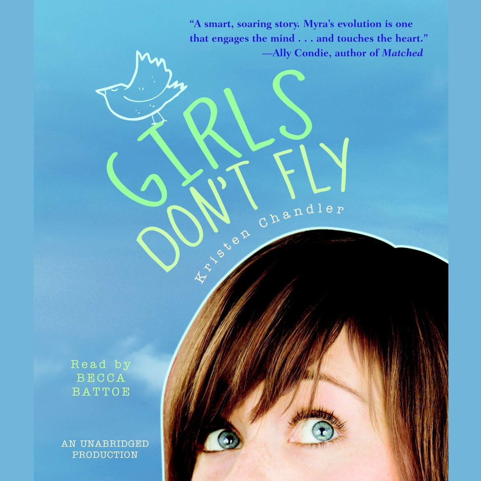Printable Girls Don't Fly Audiobook Cover Art