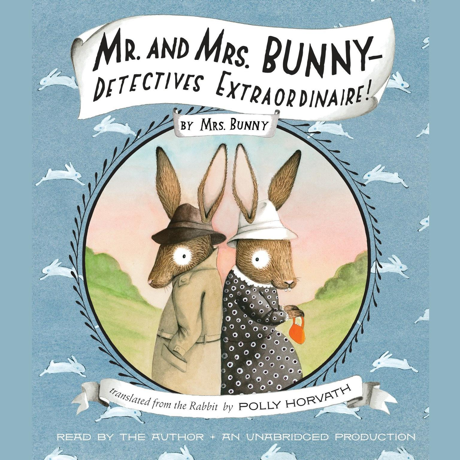 Printable Mr. and Mrs. Bunny—Detectives Extraordinaire! Audiobook Cover Art