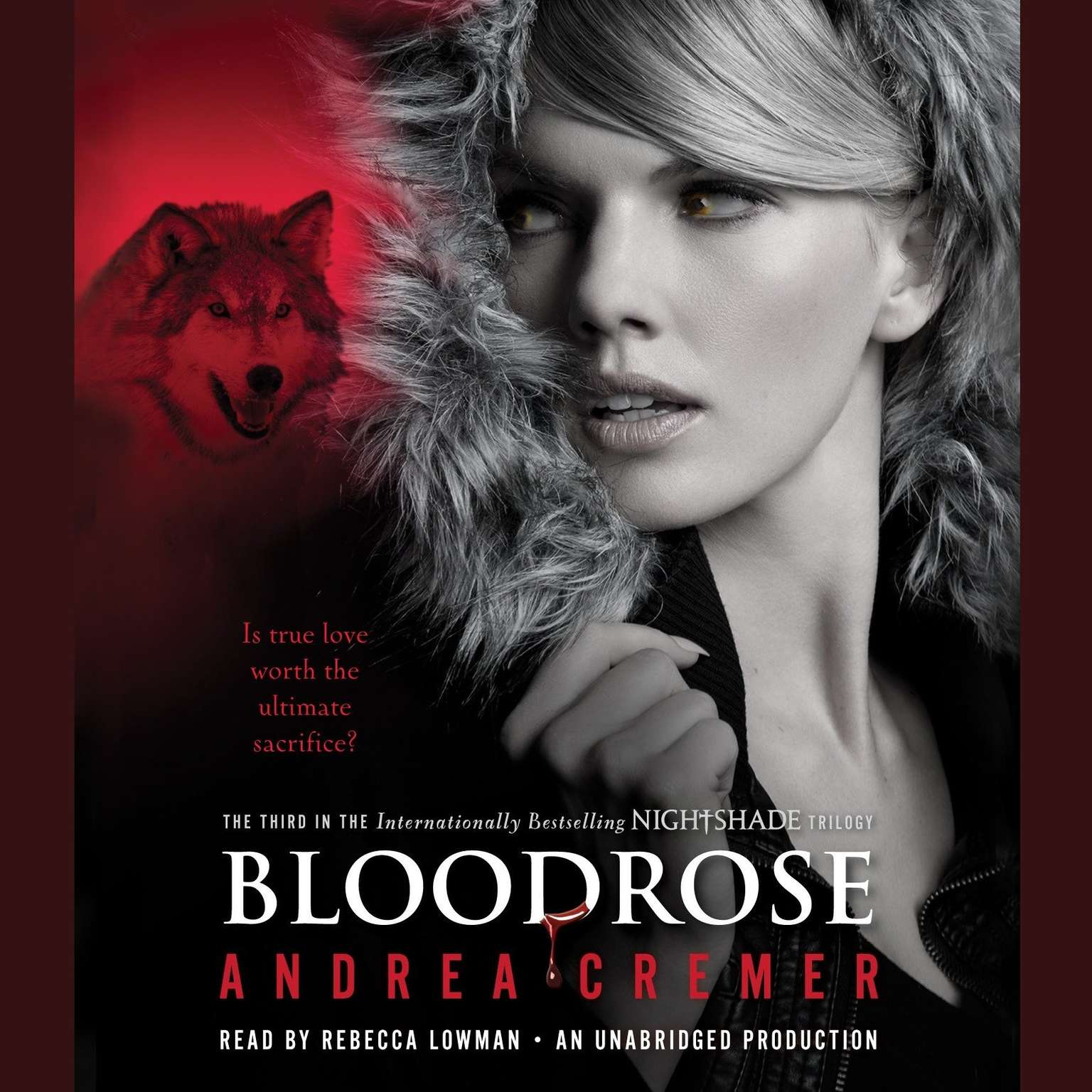 Printable Bloodrose: A Nightshade Novel Audiobook Cover Art