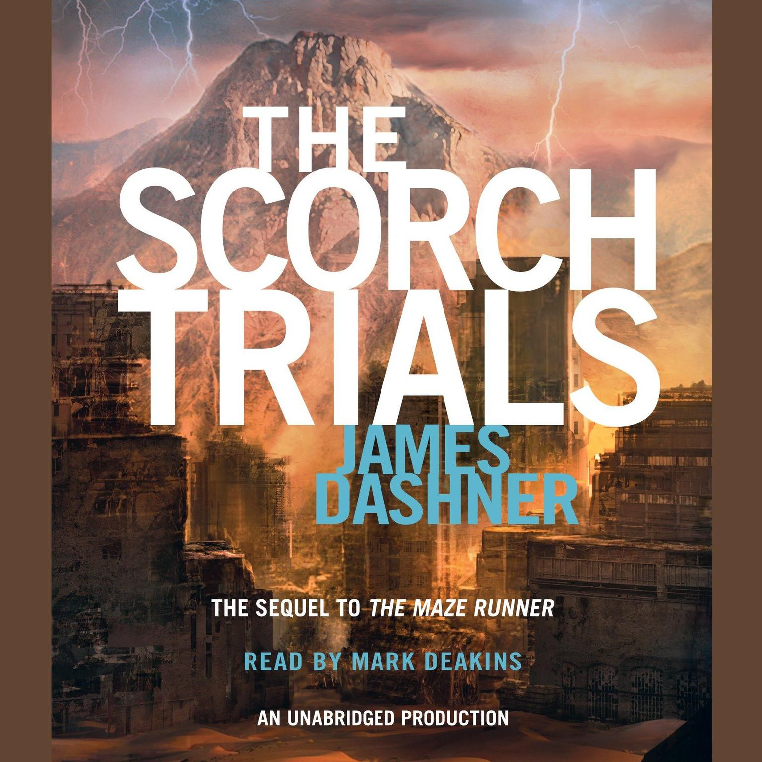 Printable The Scorch Trials Audiobook Cover Art