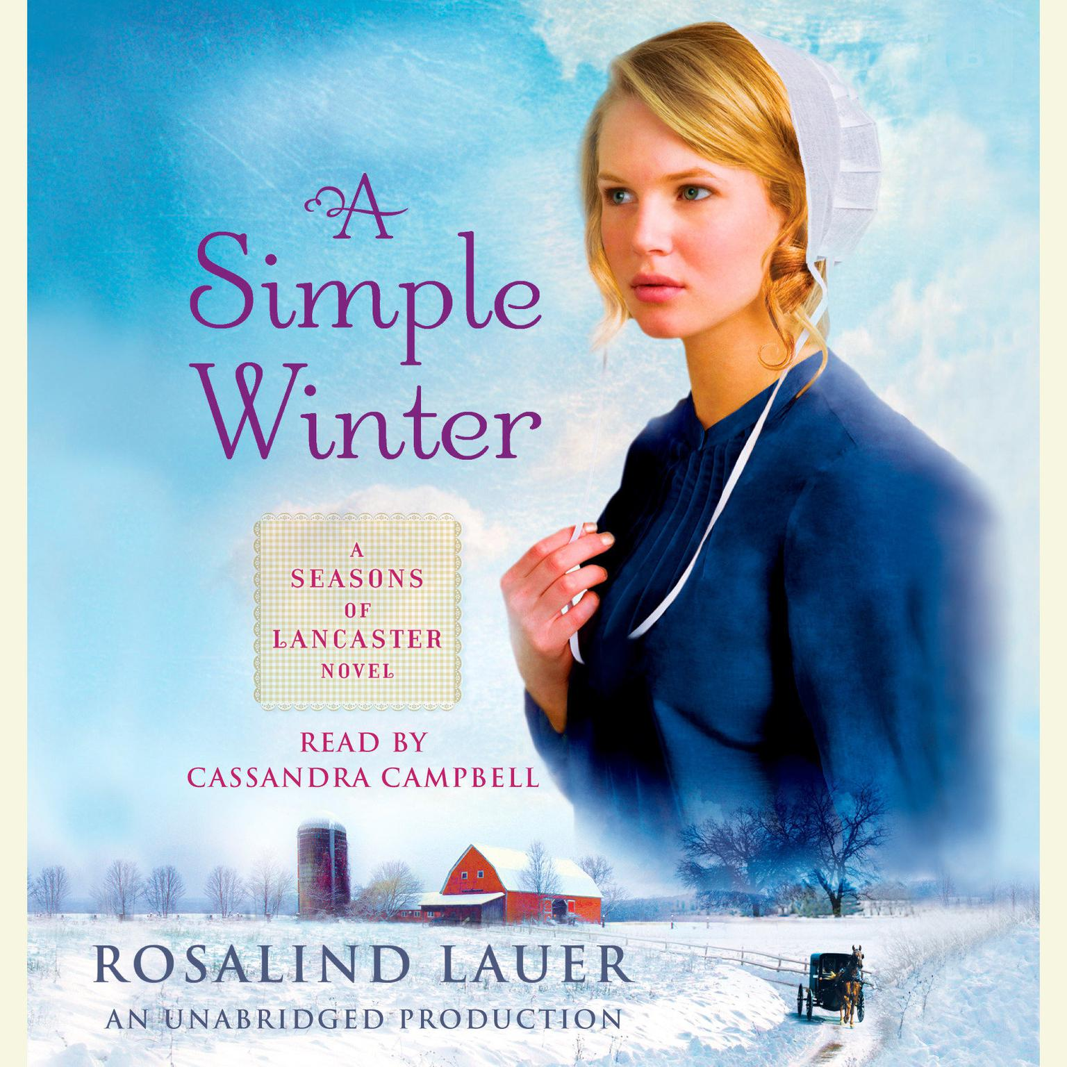 Printable A Simple Winter: A Seasons of Lancaster Novel Audiobook Cover Art