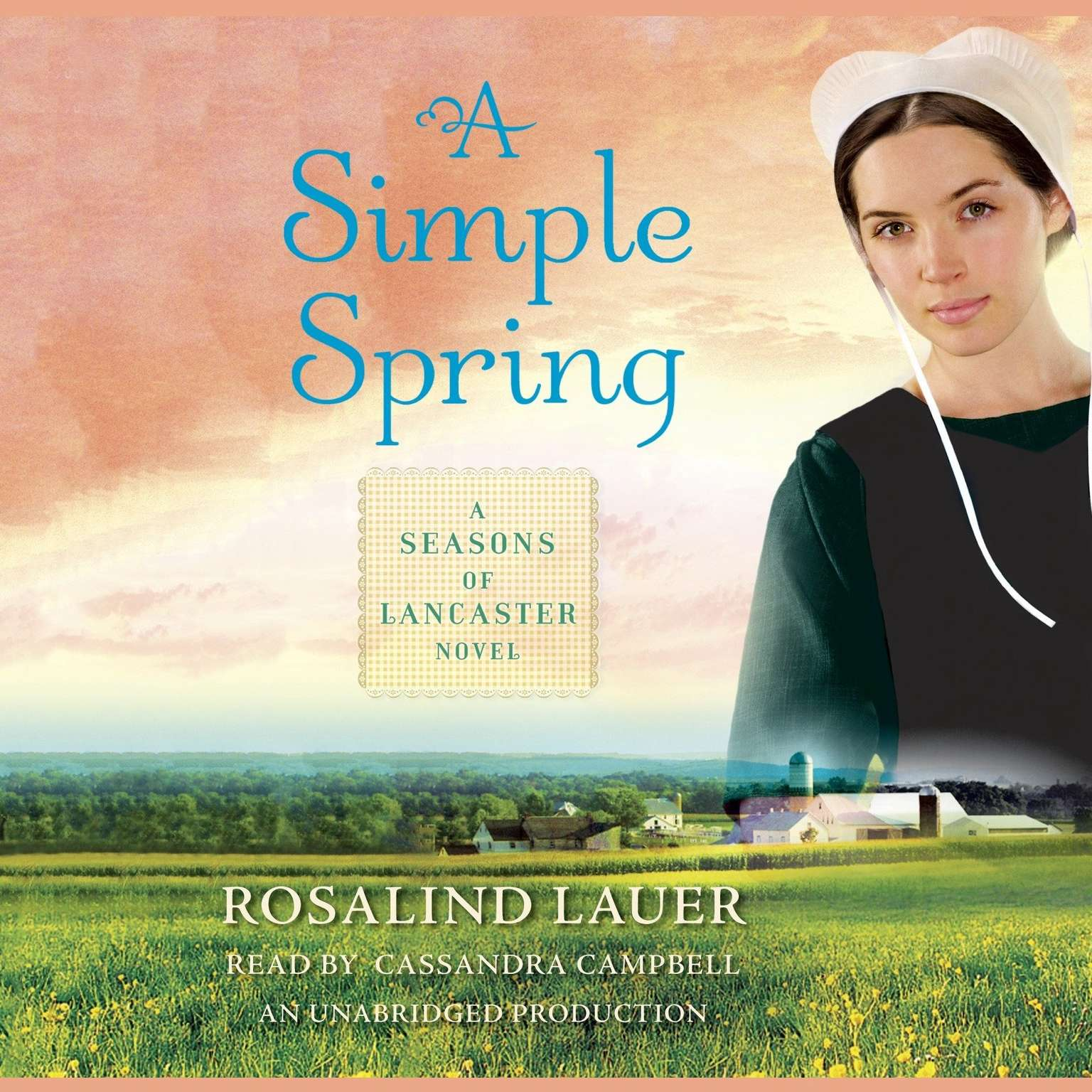Printable A Simple Spring: A Seasons of Lancaster Novel Audiobook Cover Art