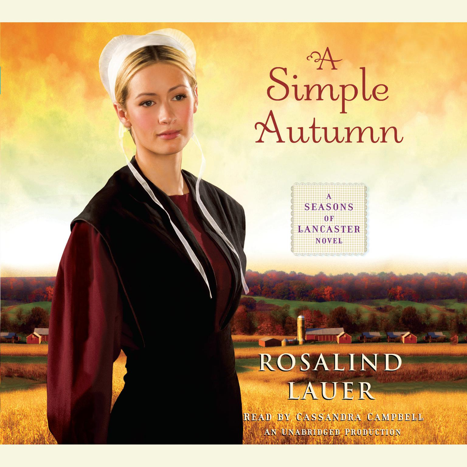 Printable A Simple Autumn: A Seasons of Lancaster Novel Audiobook Cover Art