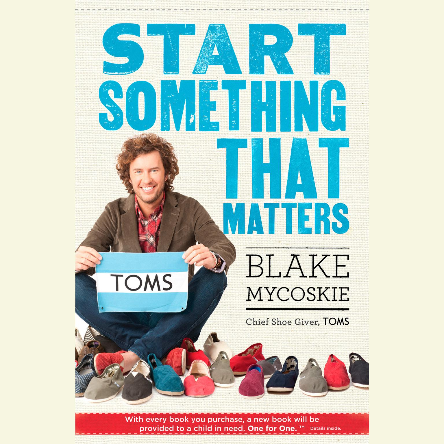 Printable Start Something That Matters Audiobook Cover Art