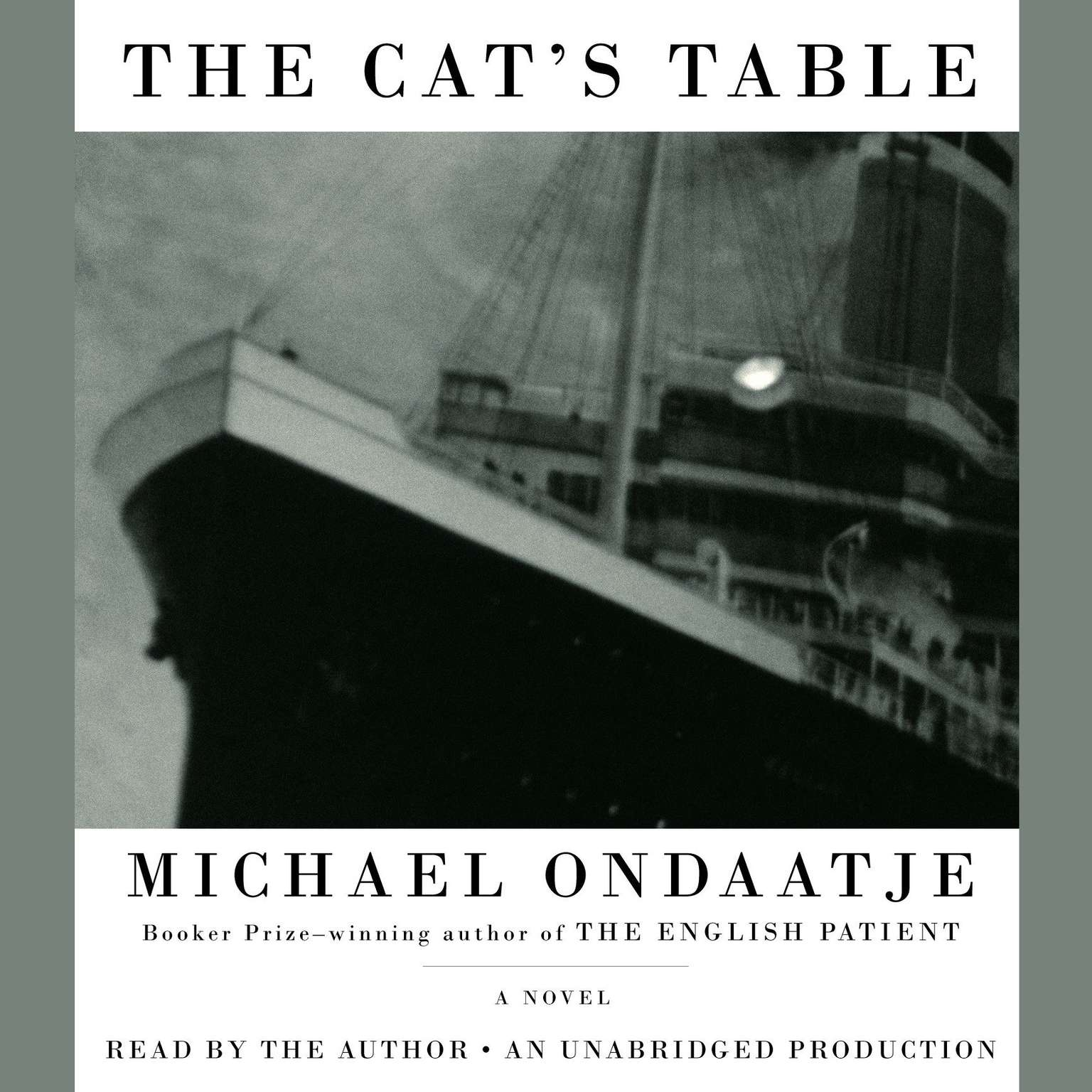 Printable The Cat's Table Audiobook Cover Art