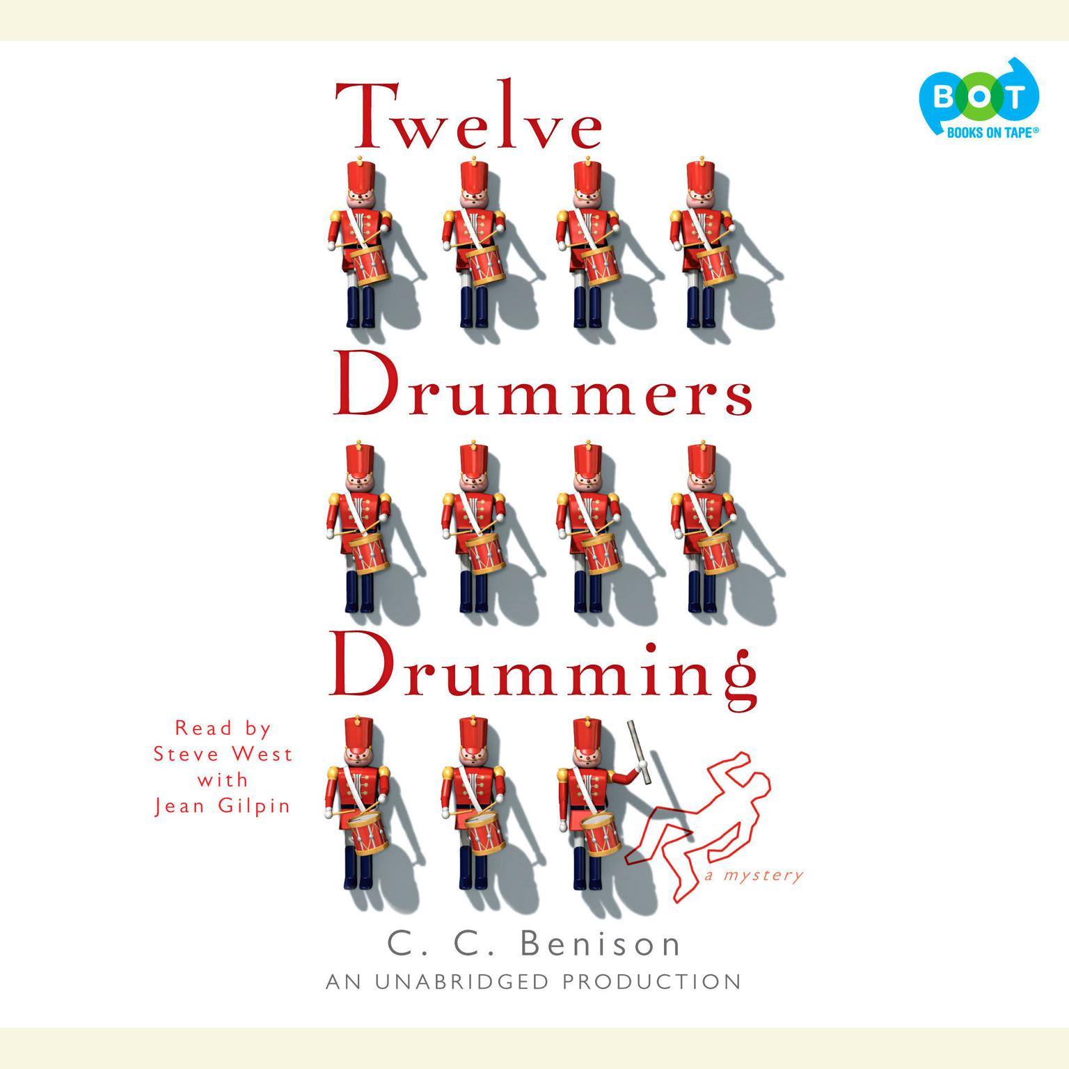 Printable Twelve Drummers Drumming: A Mystery Audiobook Cover Art