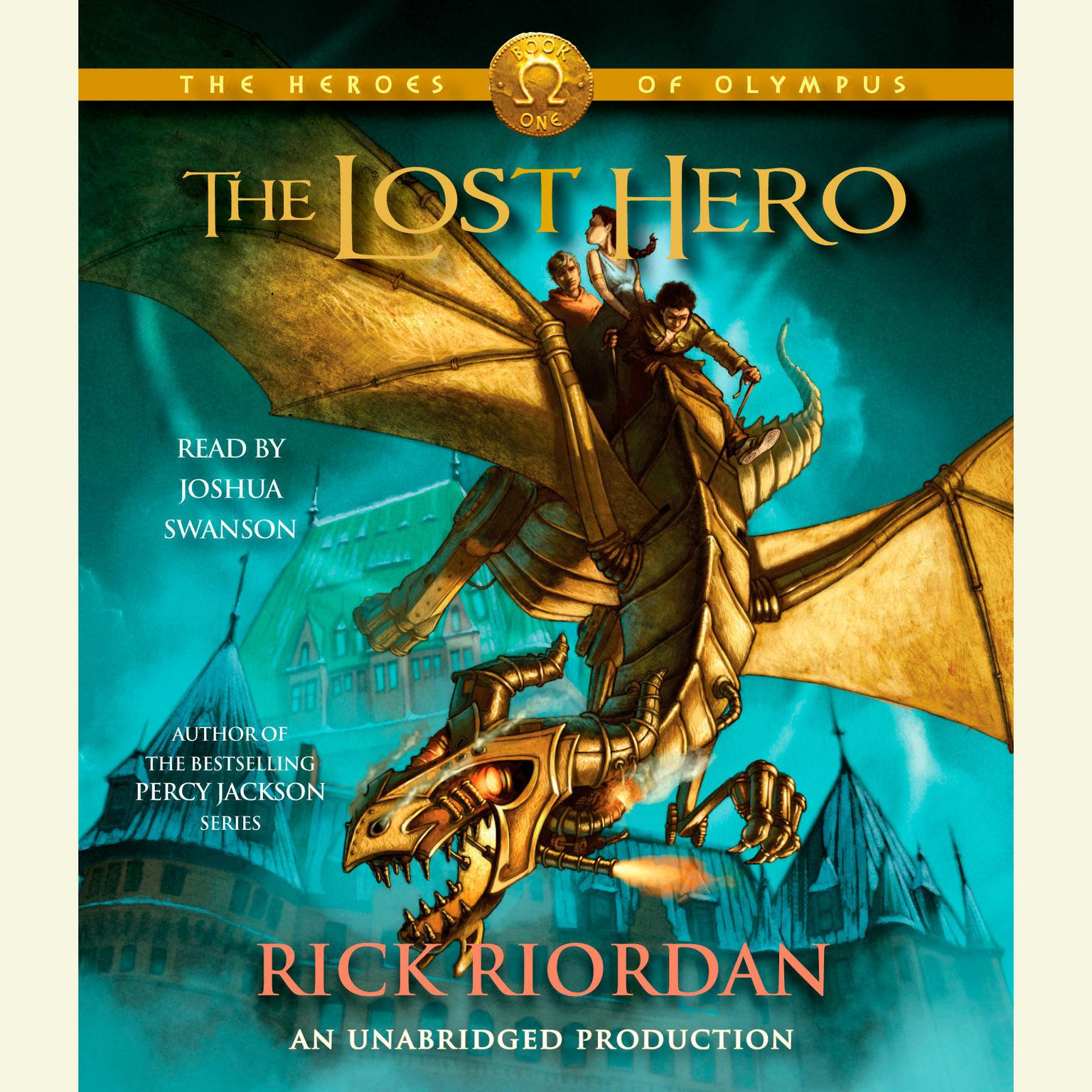 Printable The Heroes of Olympus, Book One: The Lost Hero: The Heroes of Olympus, Book One       Audiobook Cover Art