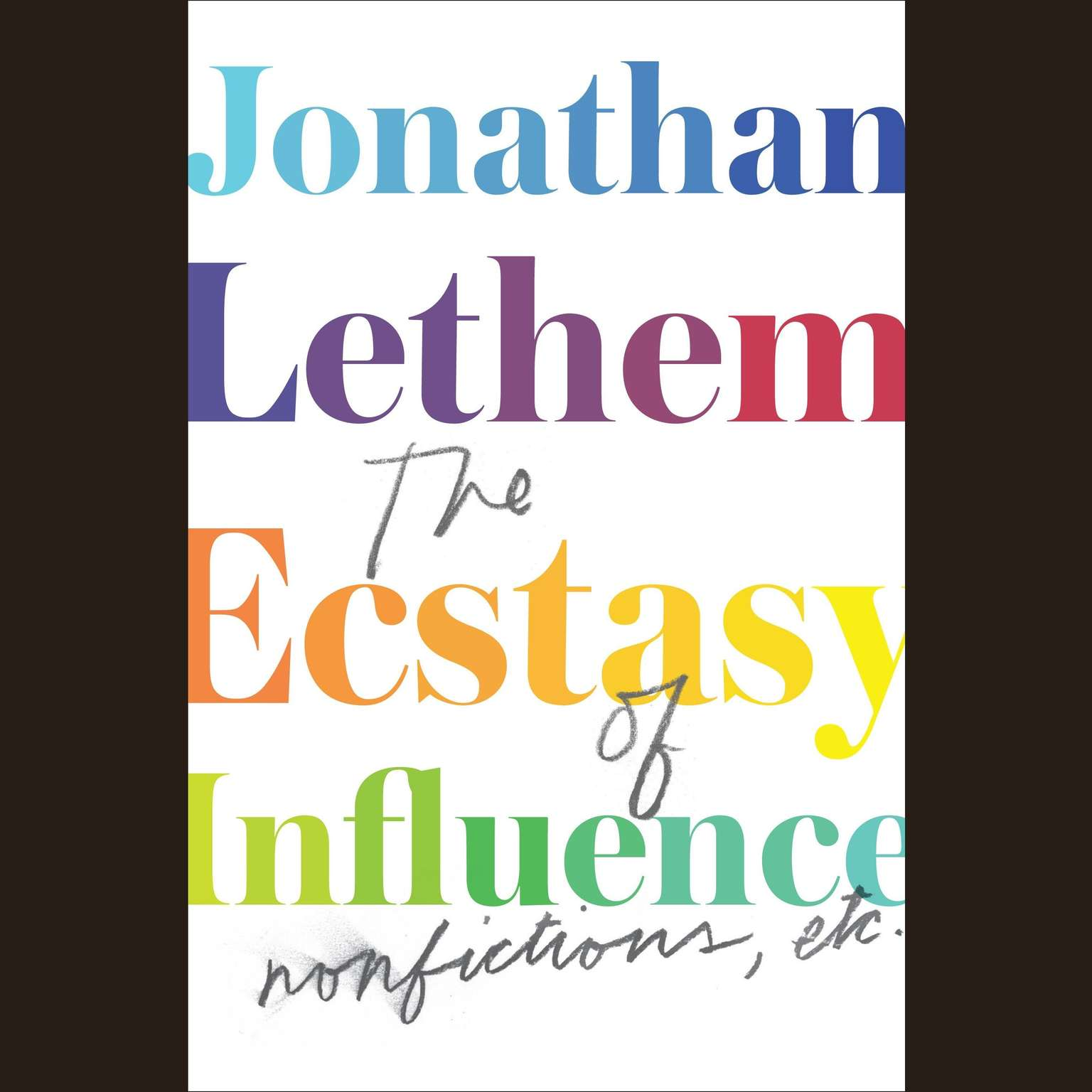 Printable The Ecstasy of Influence: Nonfictions, Etc. Audiobook Cover Art
