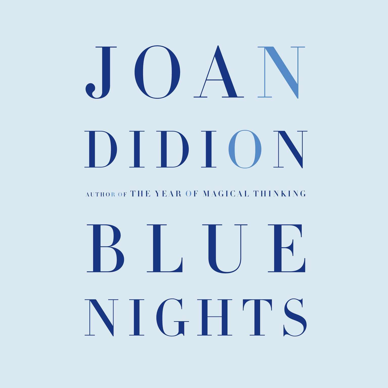 Printable Blue Nights Audiobook Cover Art