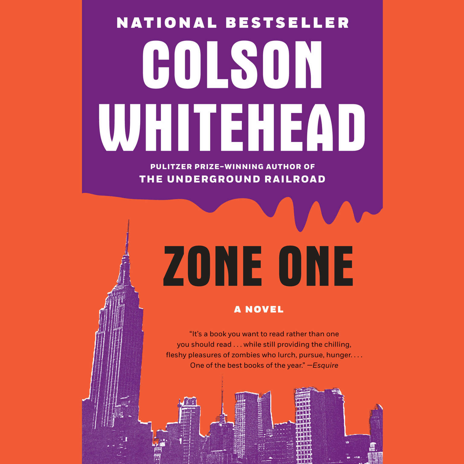 Printable Zone One: A Novel Audiobook Cover Art
