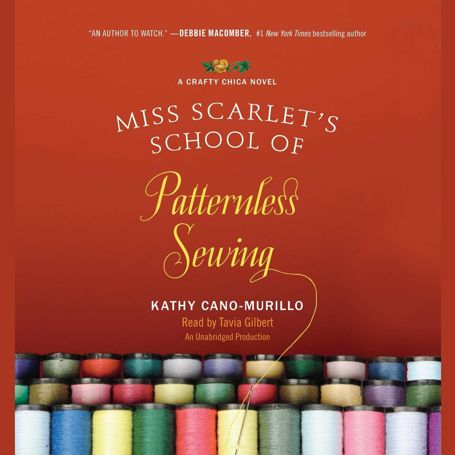 Printable Miss Scarlet's School of Patternless Sewing: A Crafty Chica Novel Audiobook Cover Art