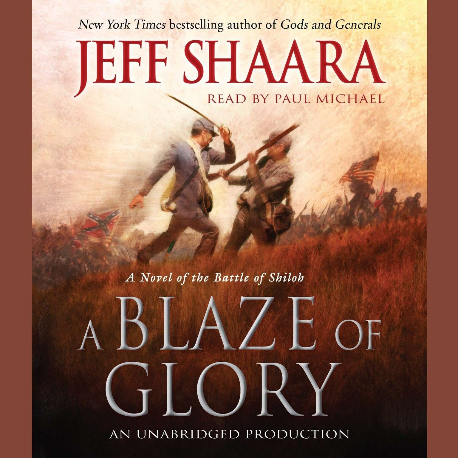 Printable A Blaze of Glory: A Novel of the Battle of Shiloh Audiobook Cover Art