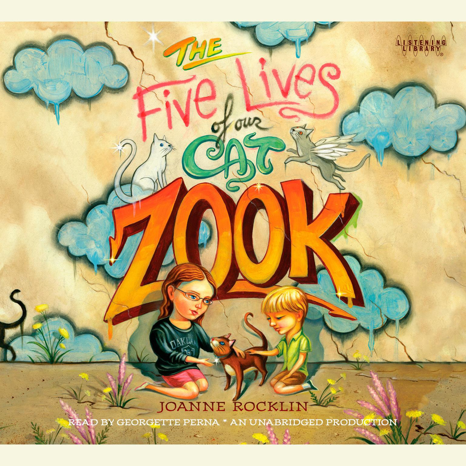 Printable The Five Lives of Our Cat Zook Audiobook Cover Art