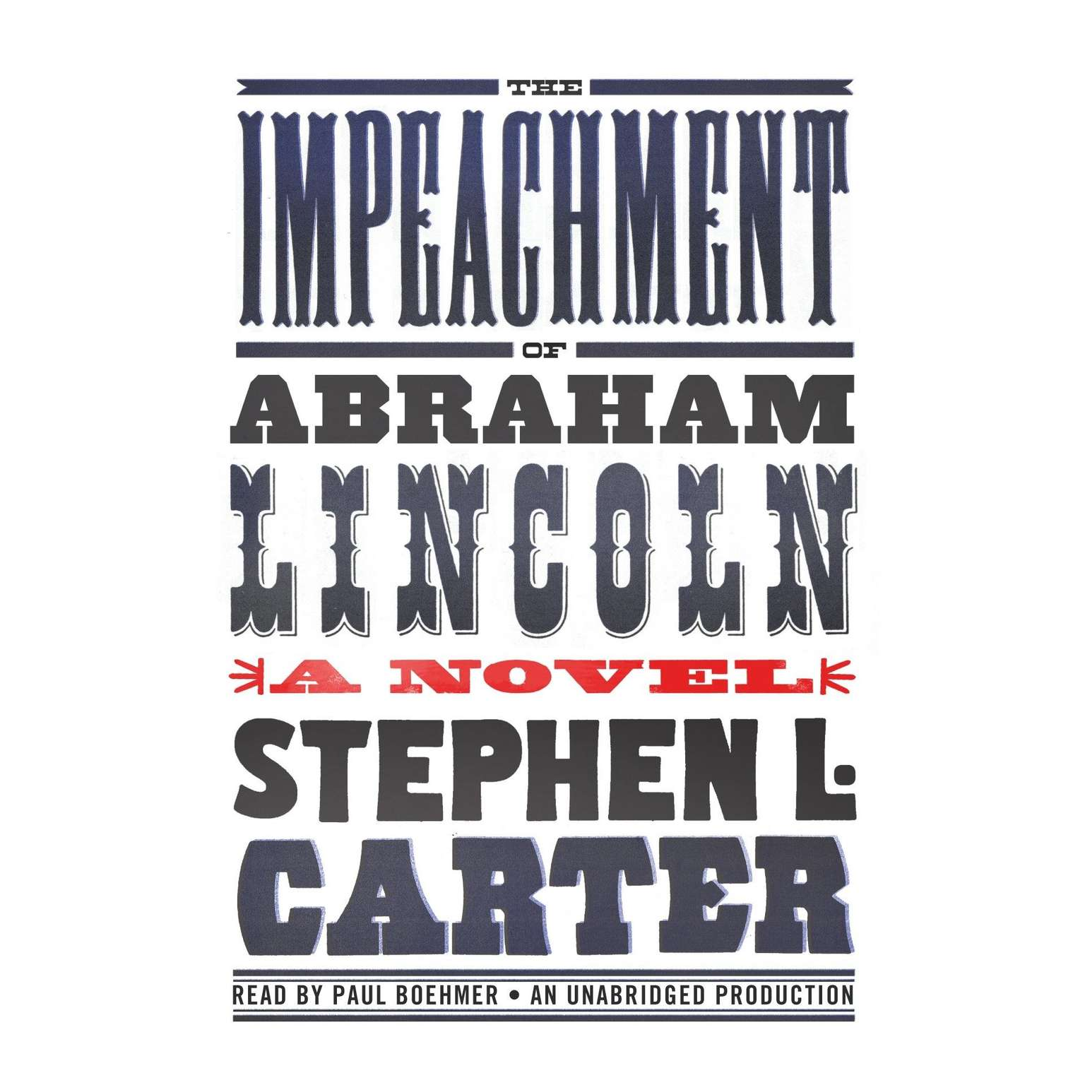 Printable The Impeachment of Abraham Lincoln Audiobook Cover Art