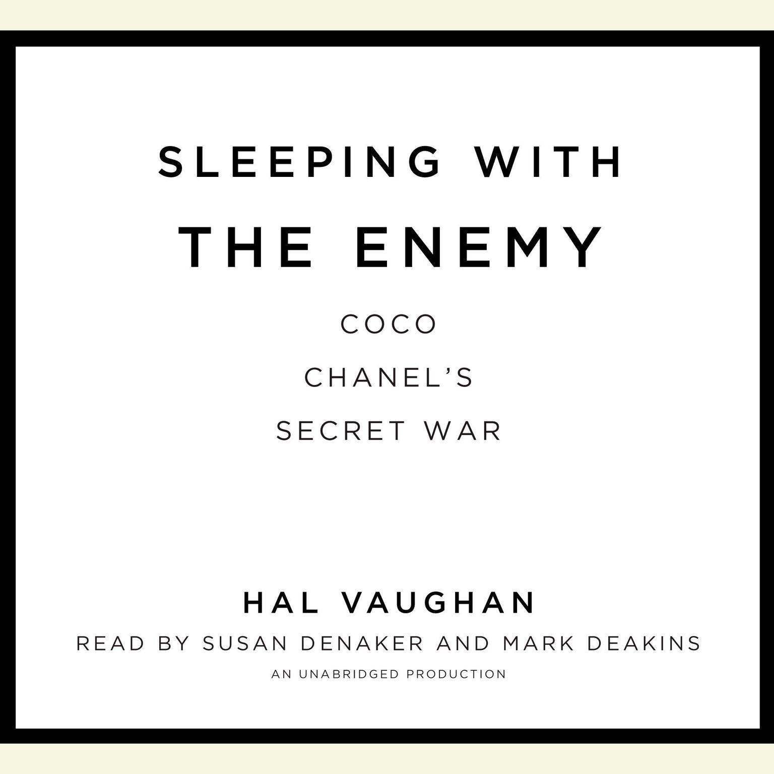 Printable Sleeping with the Enemy: Coco Chanel's Secret War Audiobook Cover Art