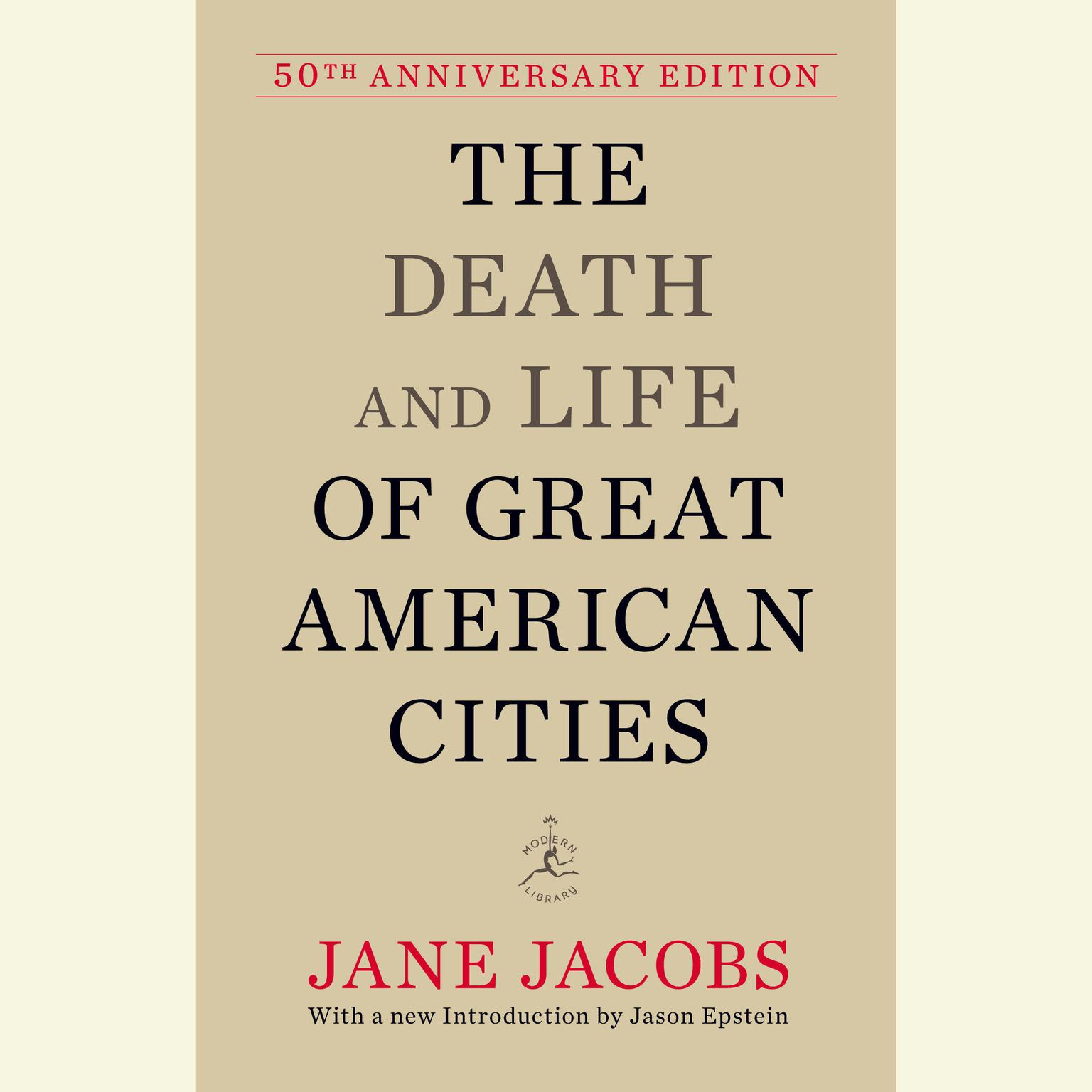 Printable The Death and Life of Great American Cities: 50th Anniversary Edition Audiobook Cover Art