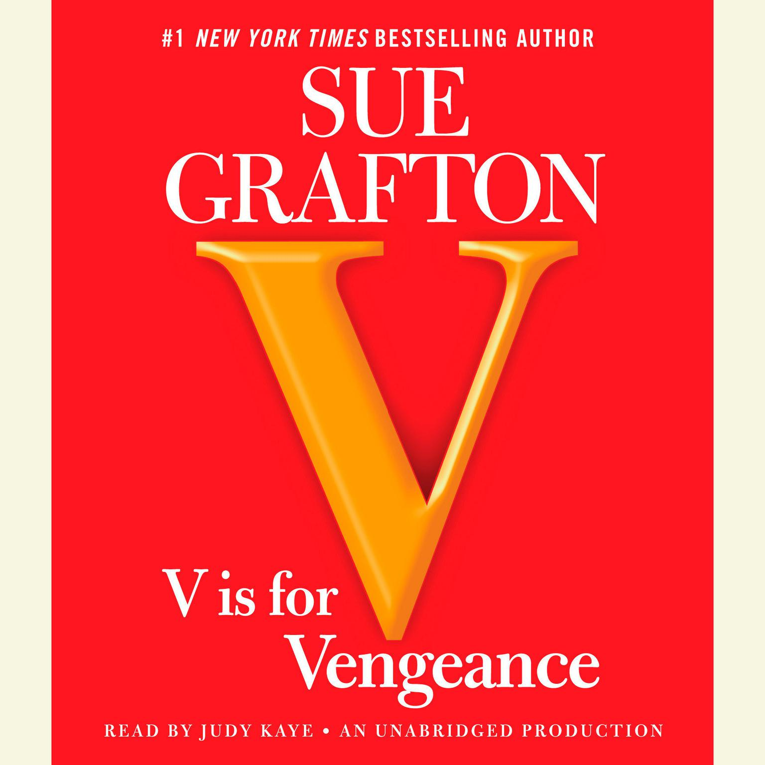 Printable V Is for Vengeance Audiobook Cover Art