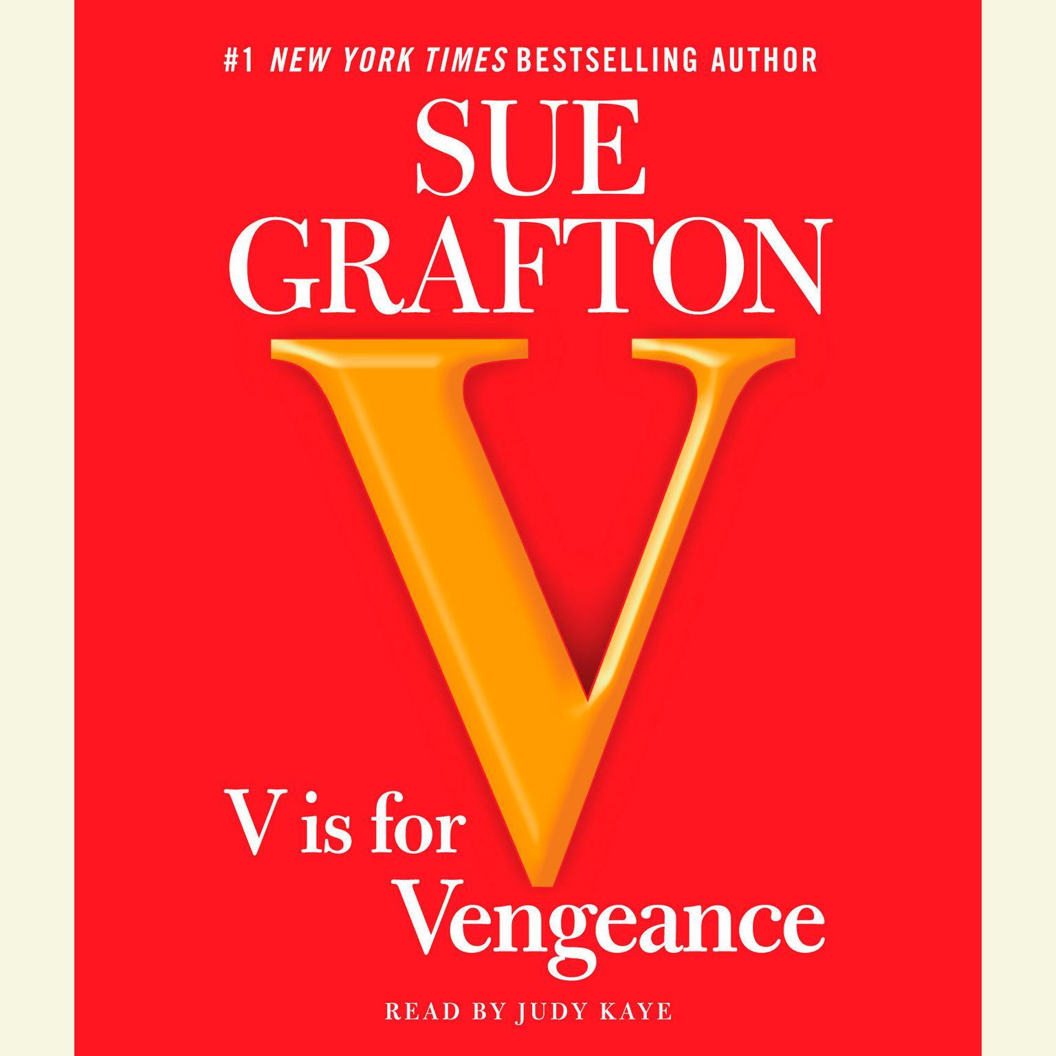 Printable V is for Vengeance Audiobook Cover Art